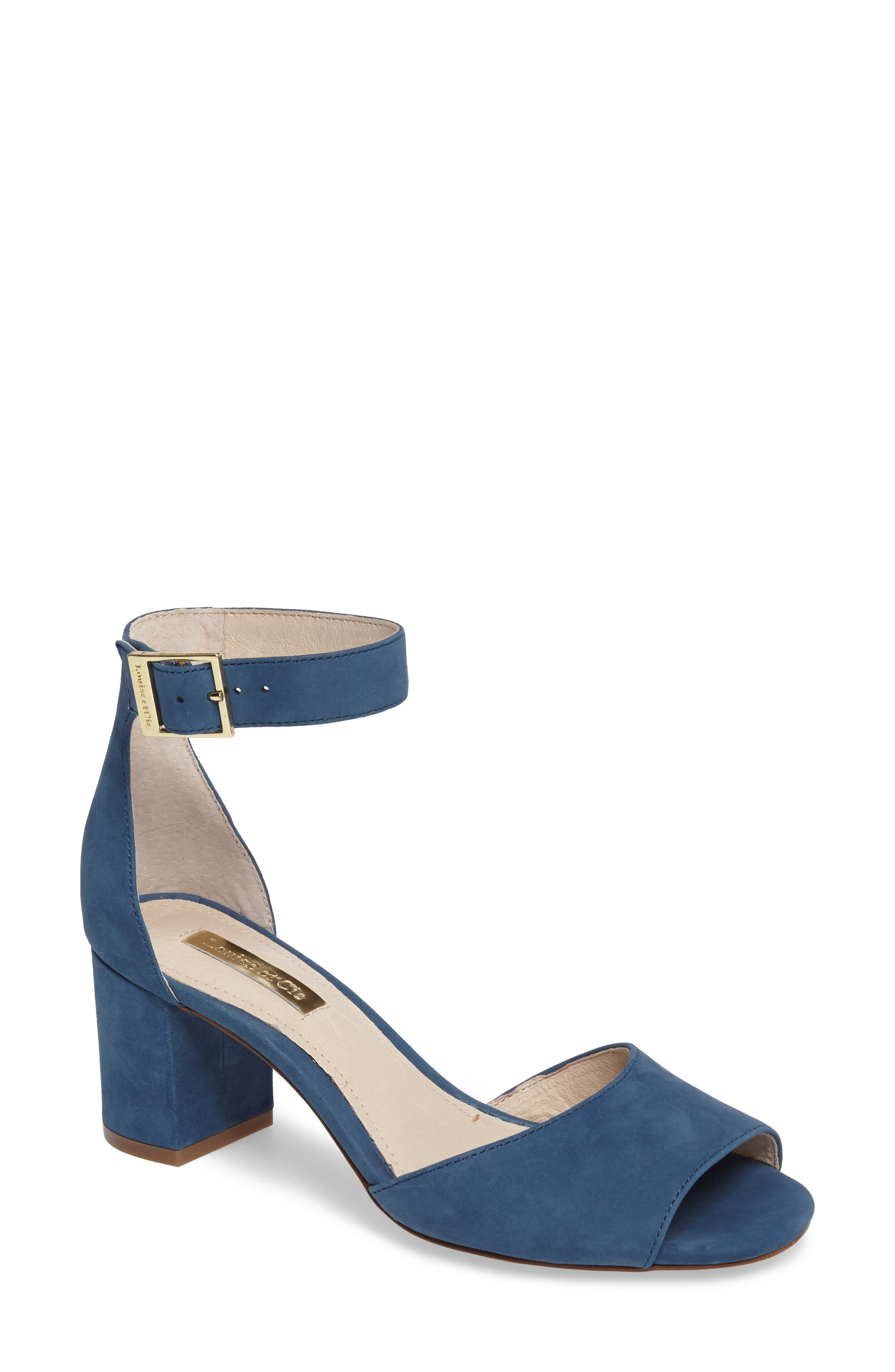 Louise et Cie Kainey Leather and Suede Block Heel Sandal o0wcB