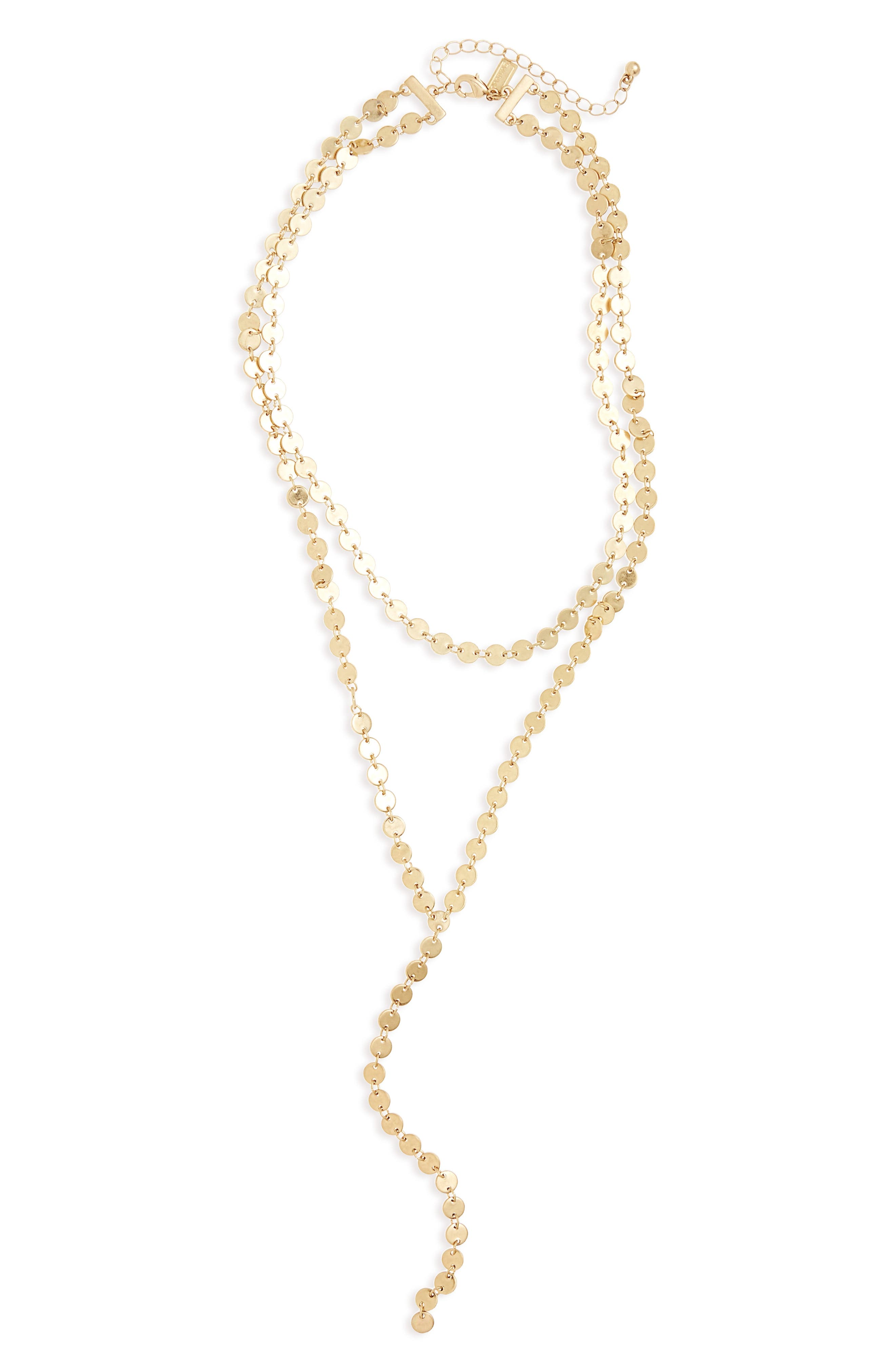 Canvas Jewelry Tiered Y-Necklace