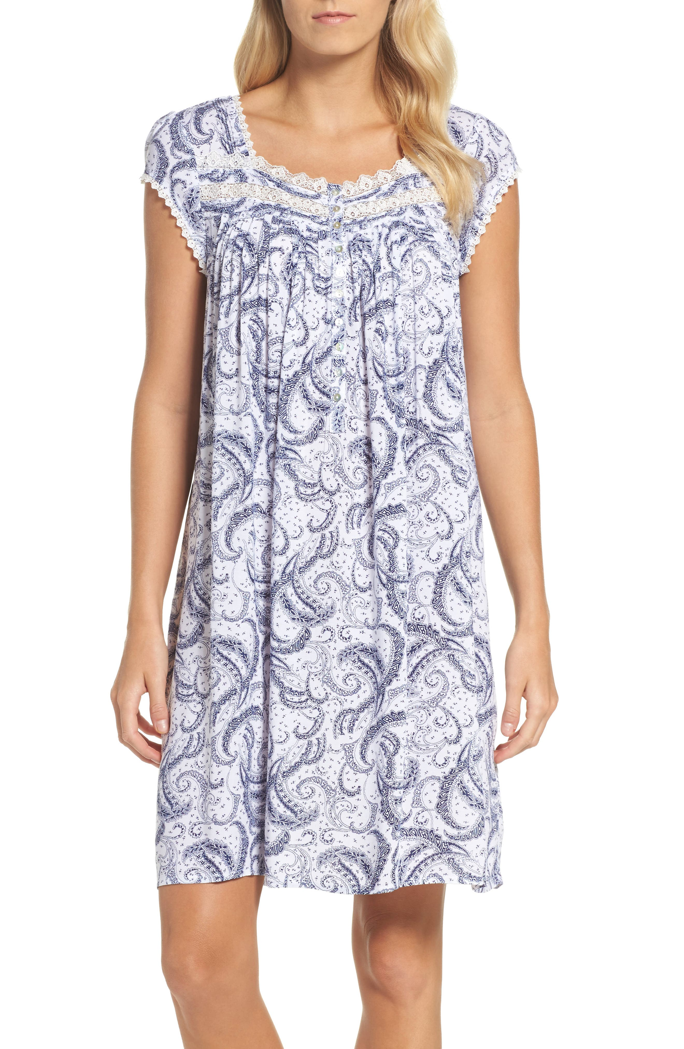 Short Nightgown,                         Main,                         color, White