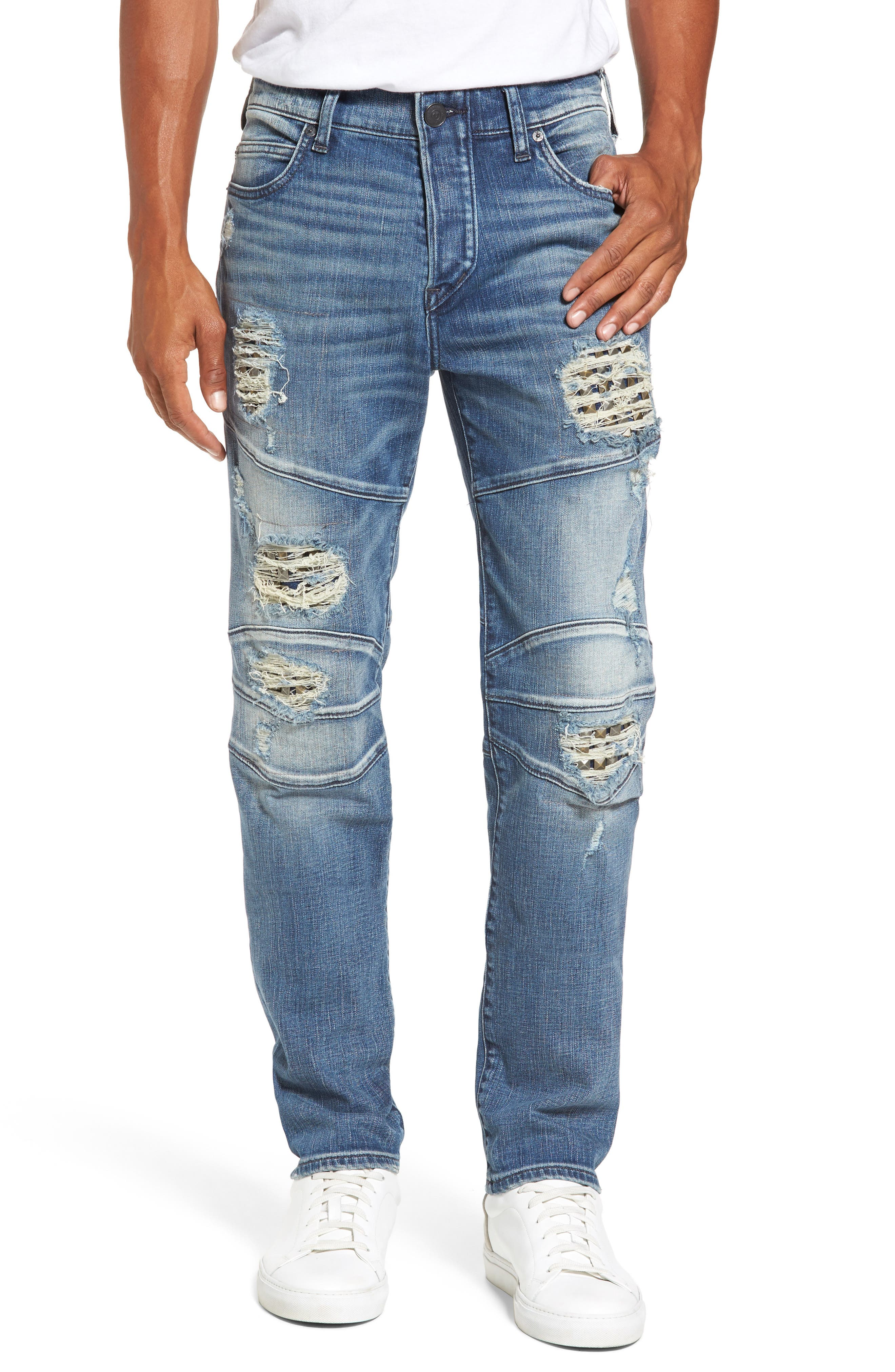 Alternate Image 1 Selected - True Religion Brand Jeans Rocco Skinny Fit Jeans (Indigo Clutch)