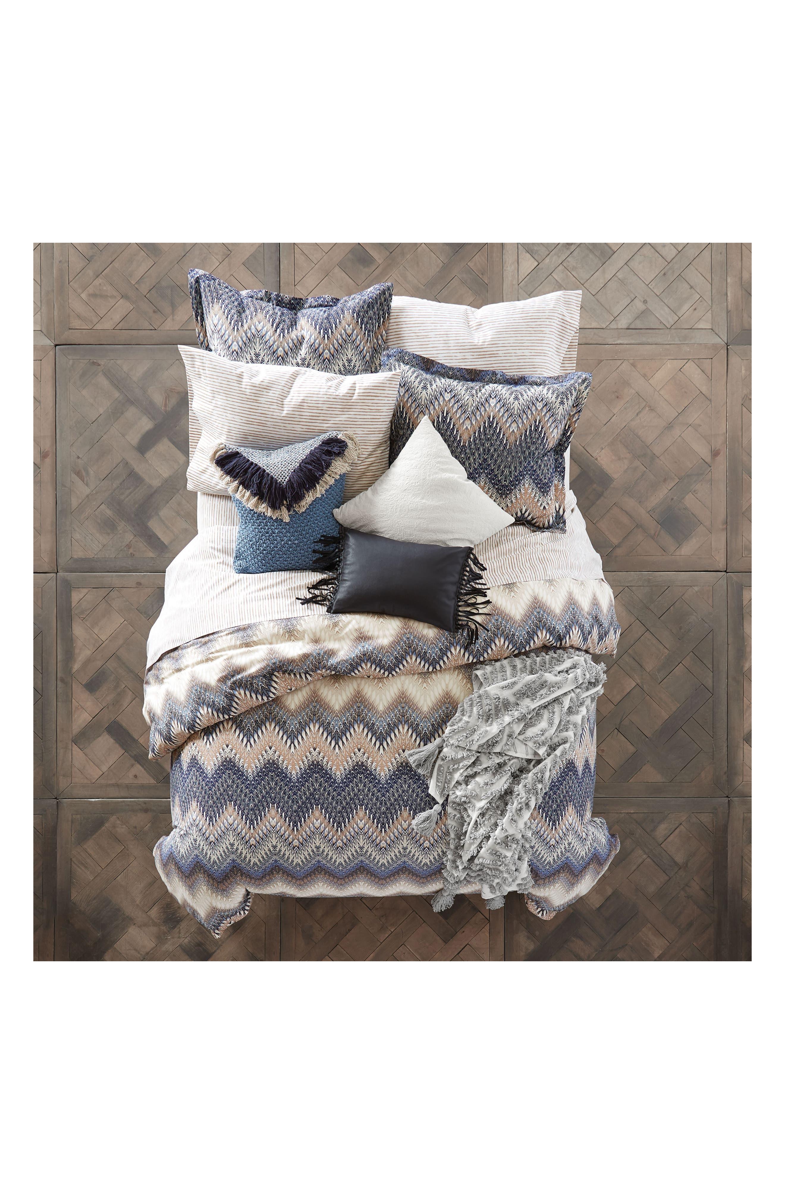Tassel Throw Blanket,                             Alternate thumbnail 2, color,                             White/ Grey