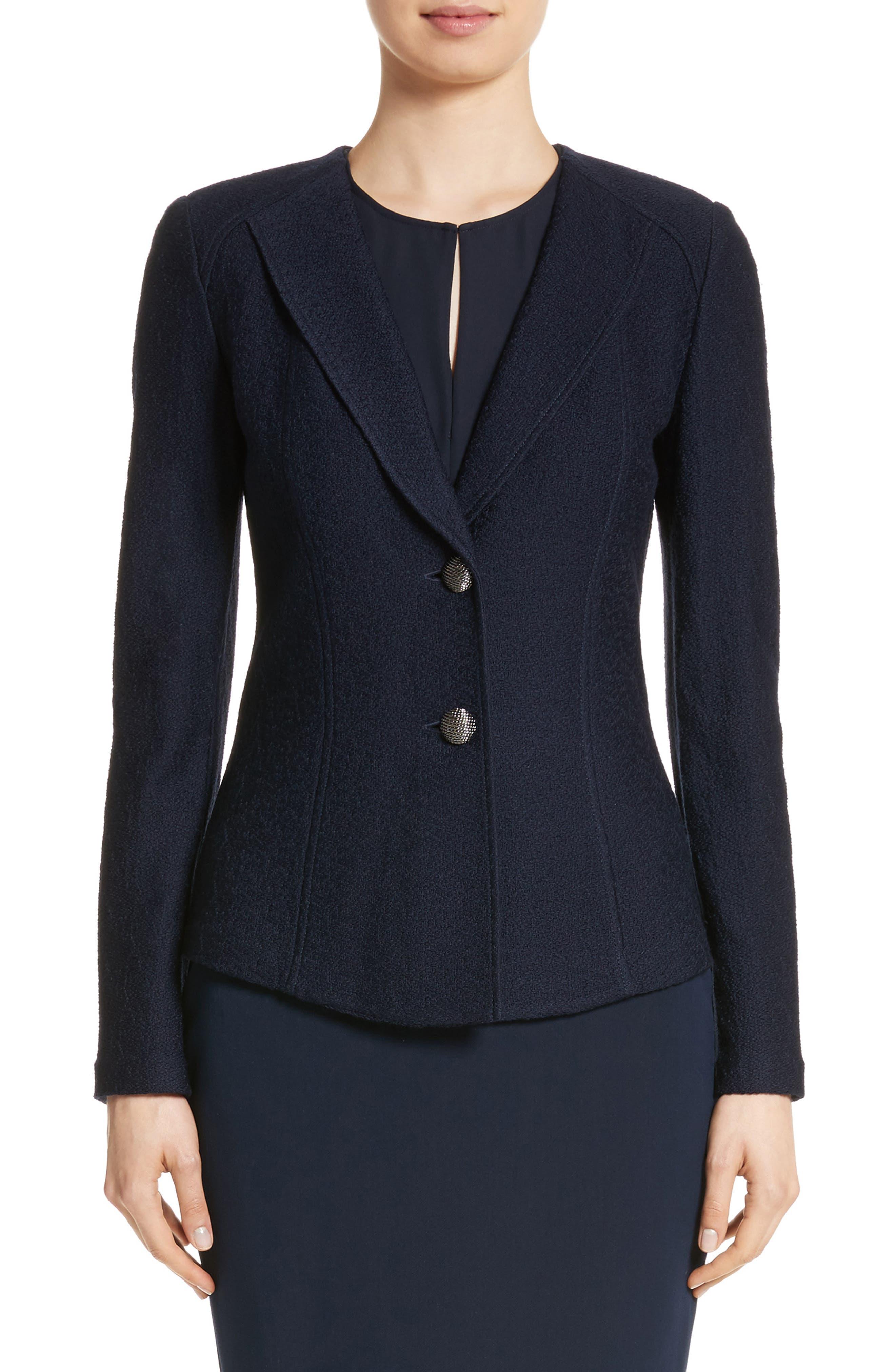 Hannah Knit Jacket,                         Main,                         color, Navy