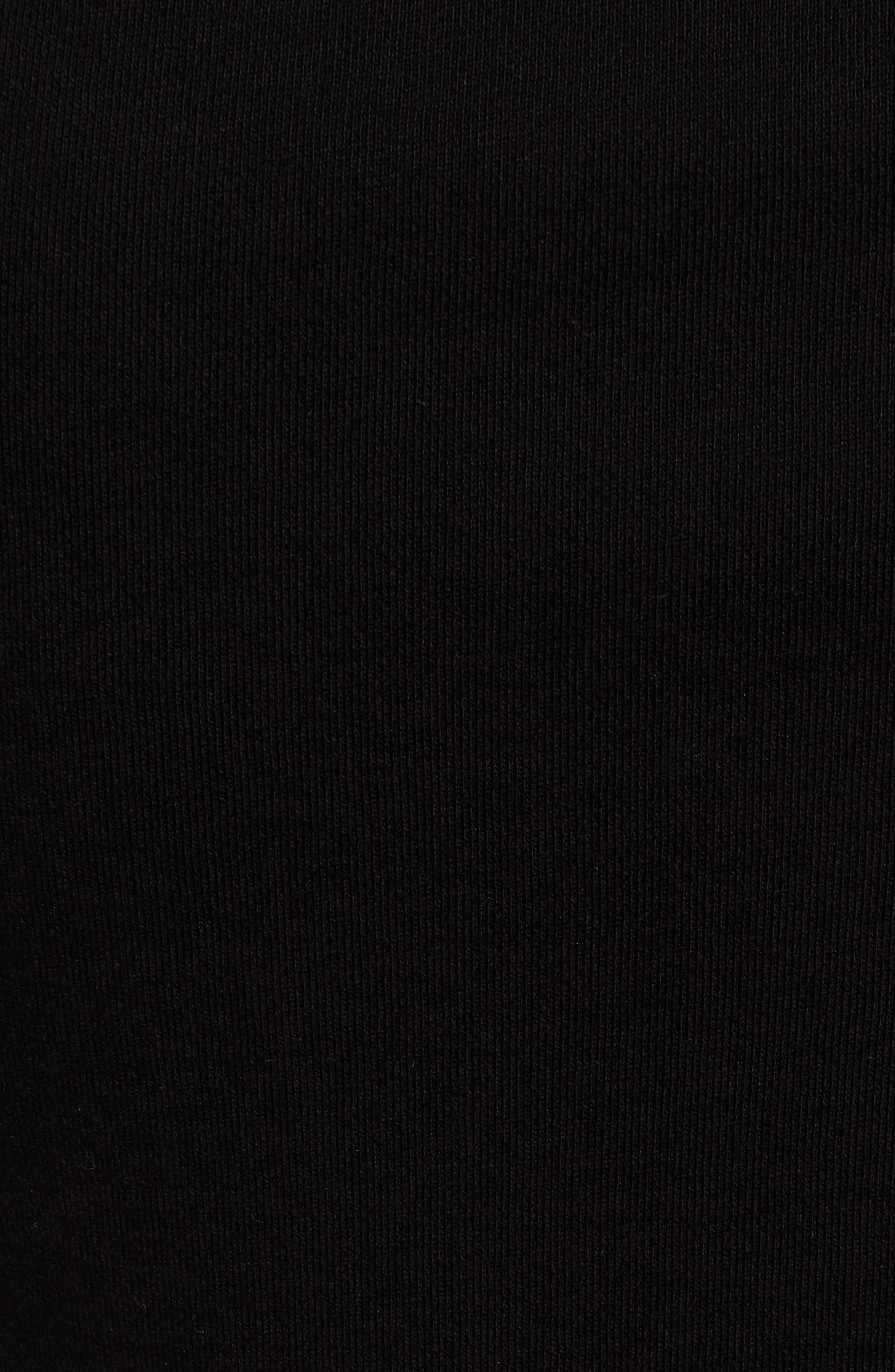 Dark & Stormy Studded Hoodie,                             Alternate thumbnail 5, color,                             Black