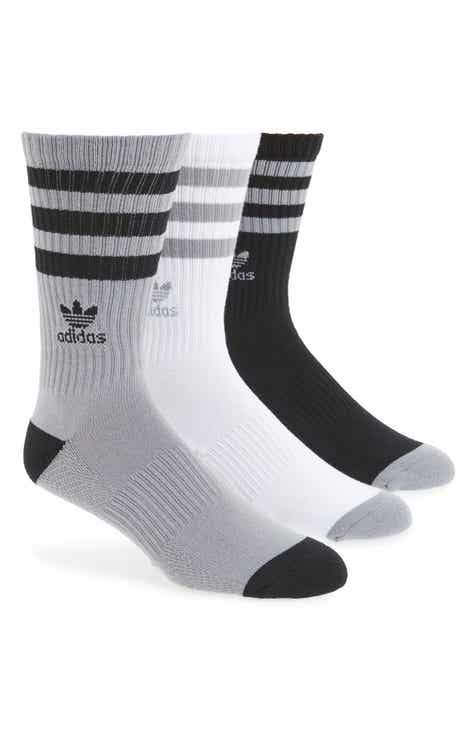 aa88371ceca6e7 adidas Originals 3-Pack Ribbed Crew Socks