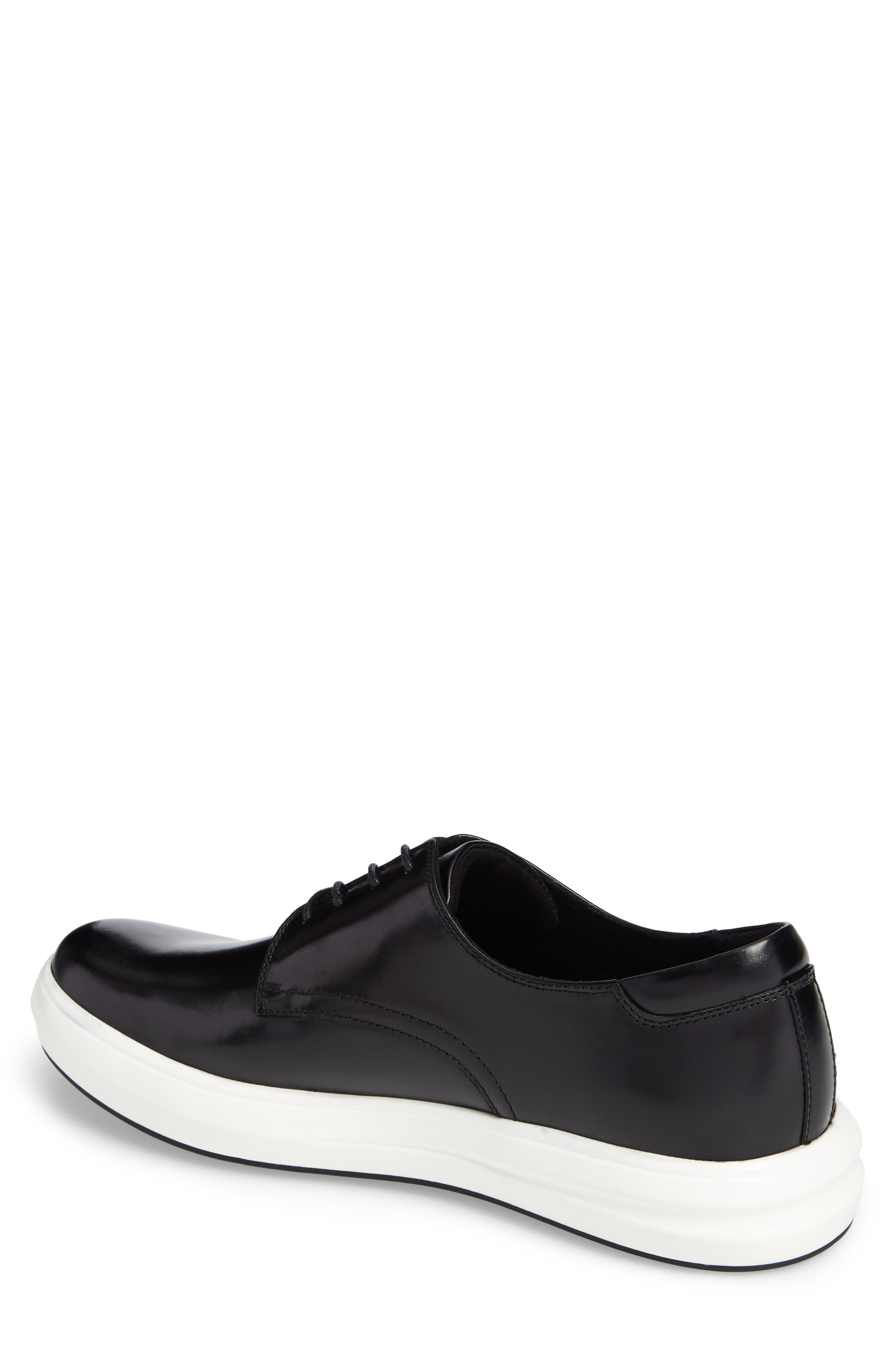 Sneaker,                             Alternate thumbnail 2, color,                             Black Leather