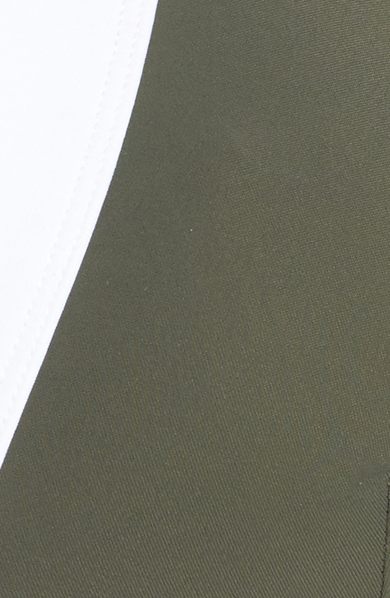 Banded Halter Bikini Top,                             Alternate thumbnail 5, color,                             Camo/ White