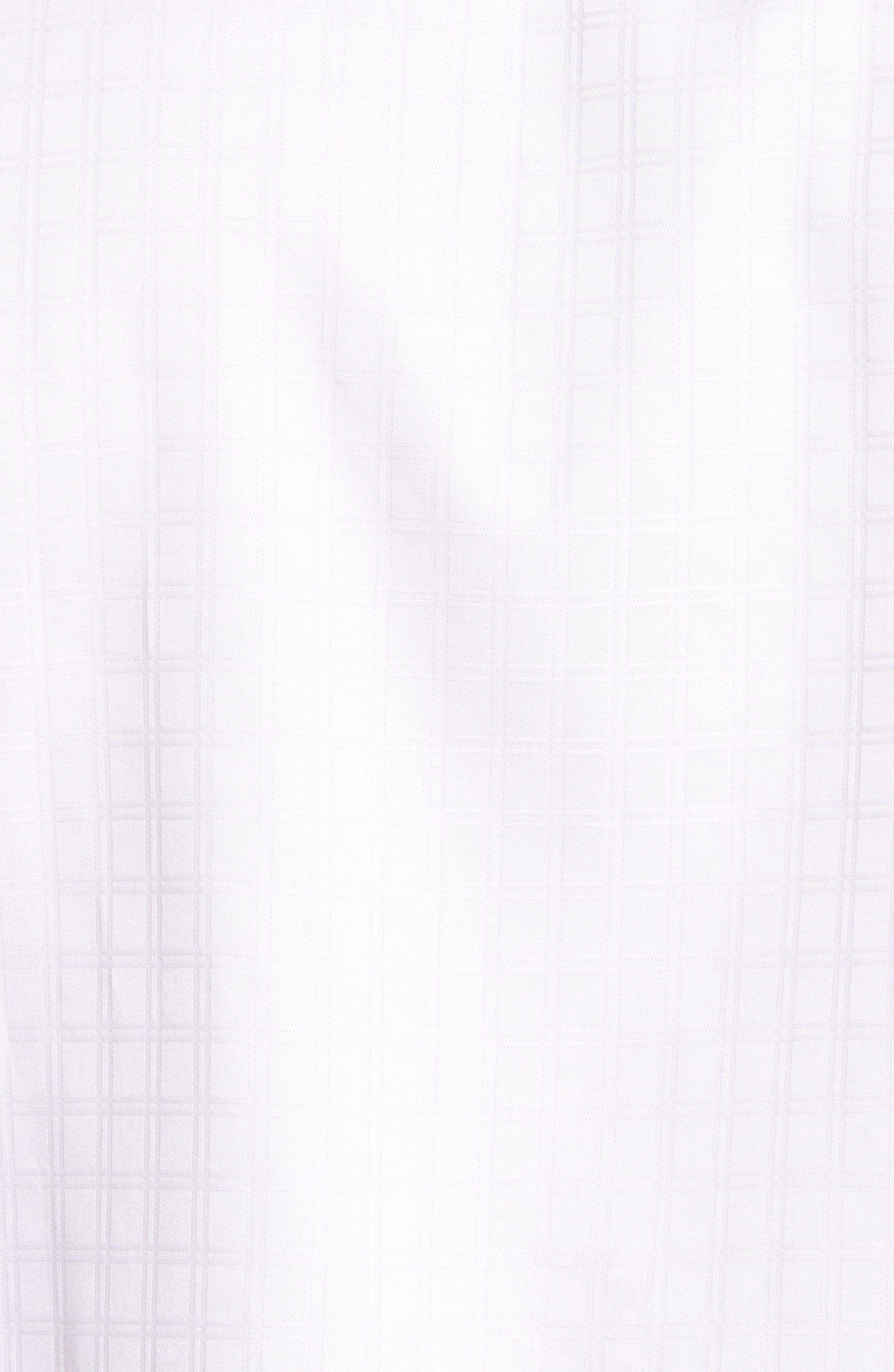 Classic Fit Check Jacquard Sport Shirt,                             Alternate thumbnail 5, color,                             White
