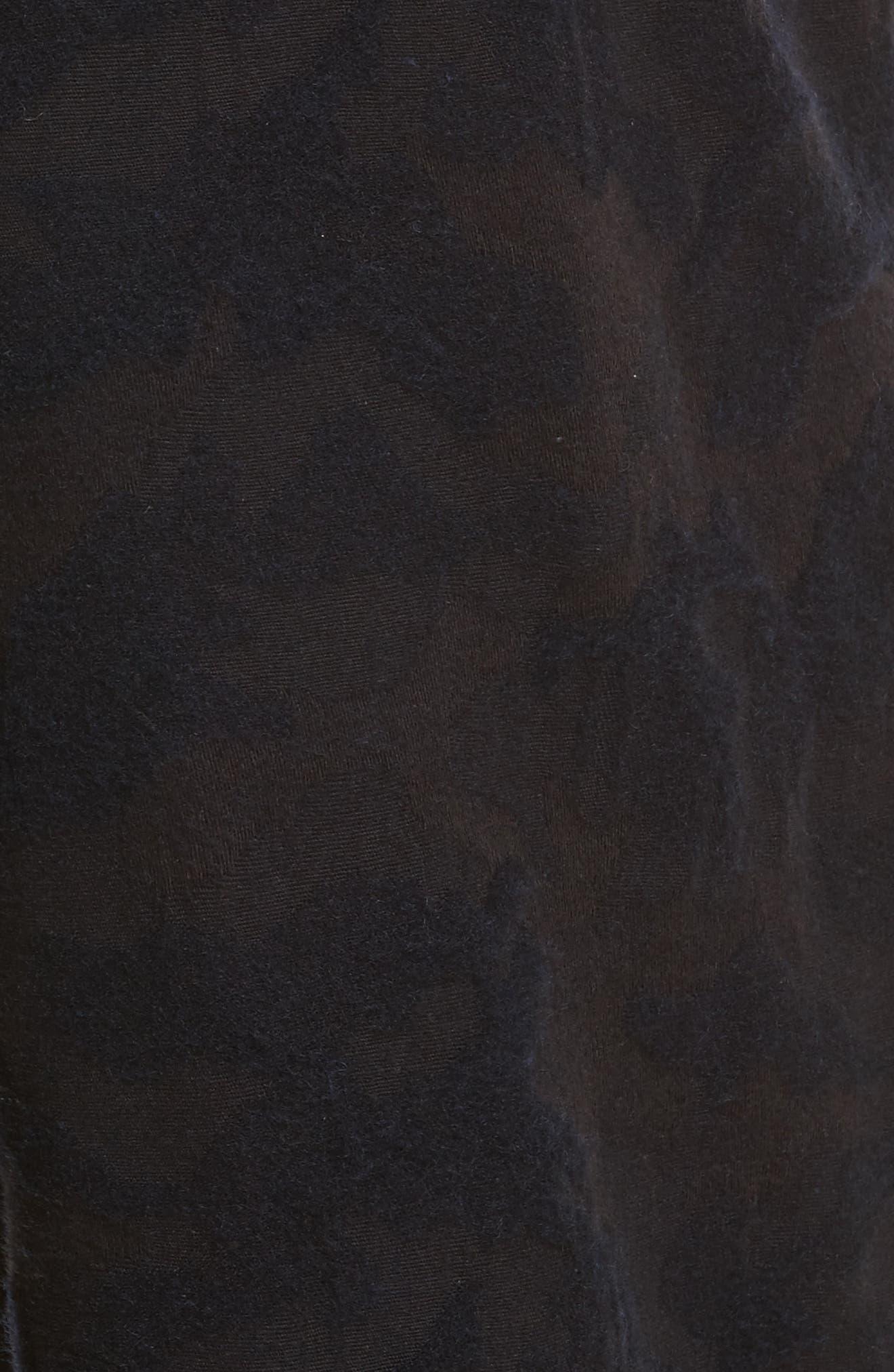 Camo Crop Pants,                             Alternate thumbnail 5, color,                             Navy