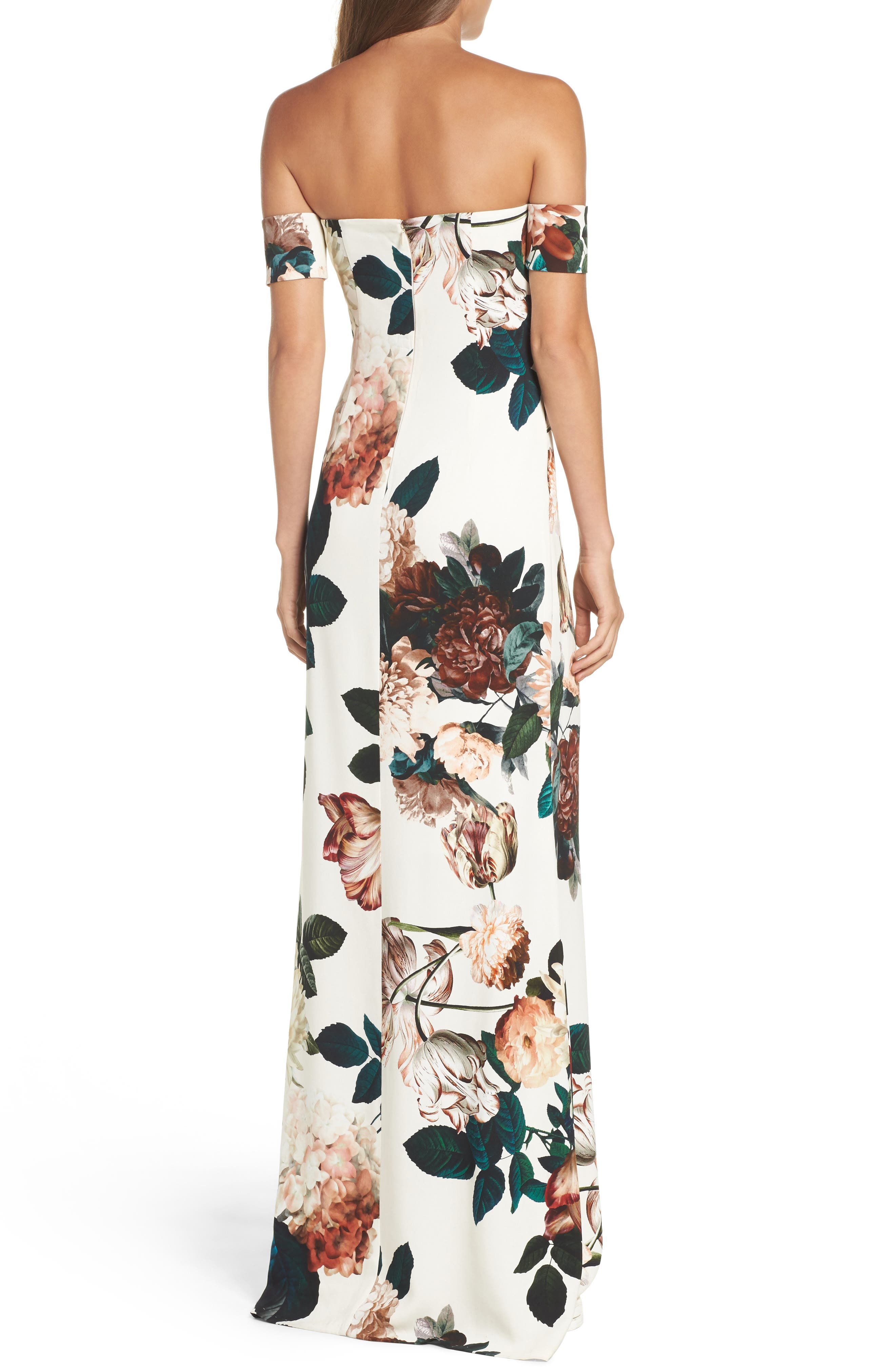 Alternate Image 2  - Sachin & Babi Noir Sahni Floral Off the Shoulder Gown
