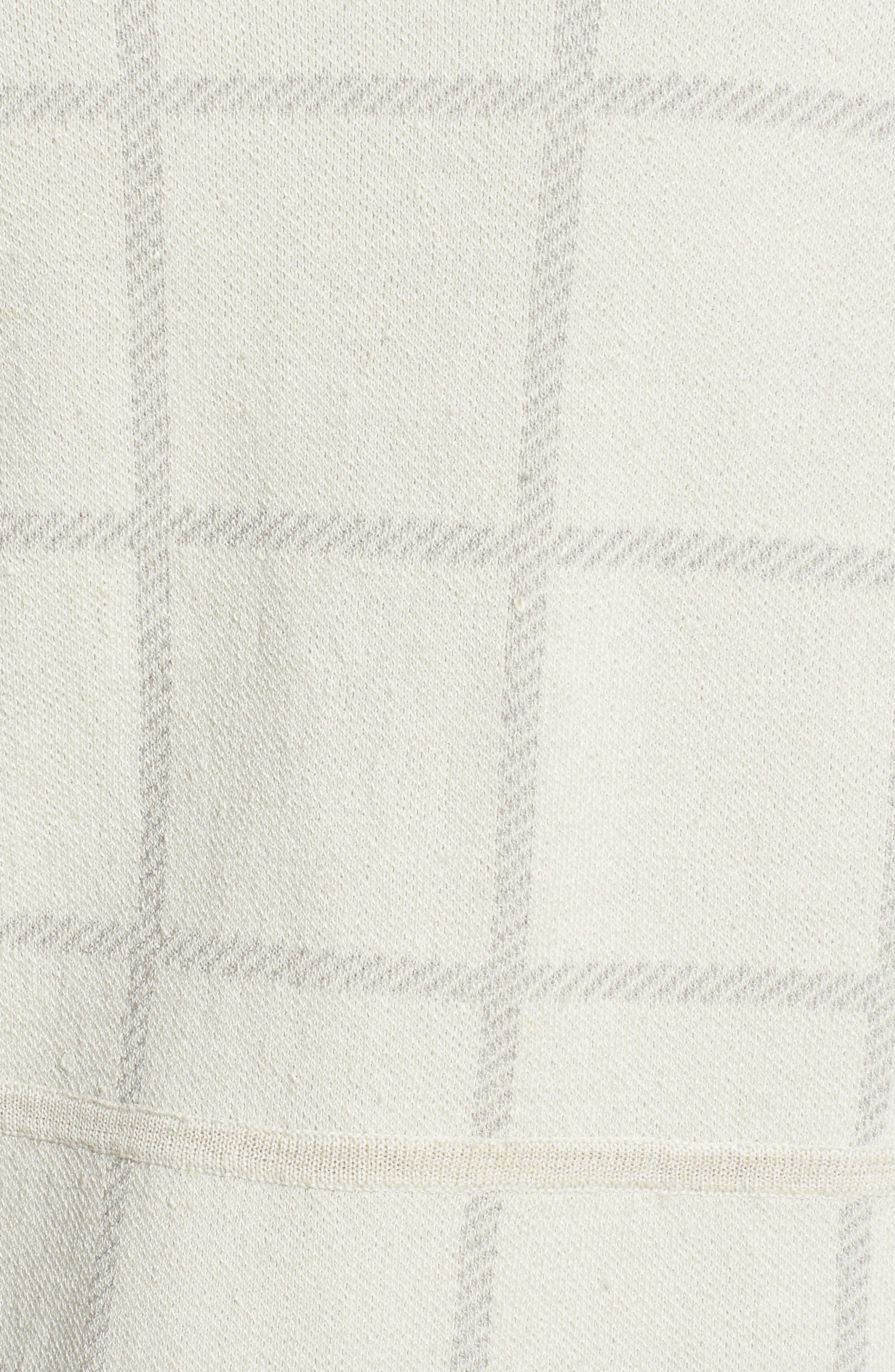 Alternate Image 5  - Eileen Fisher Linen Blend Angle Front Cardigan
