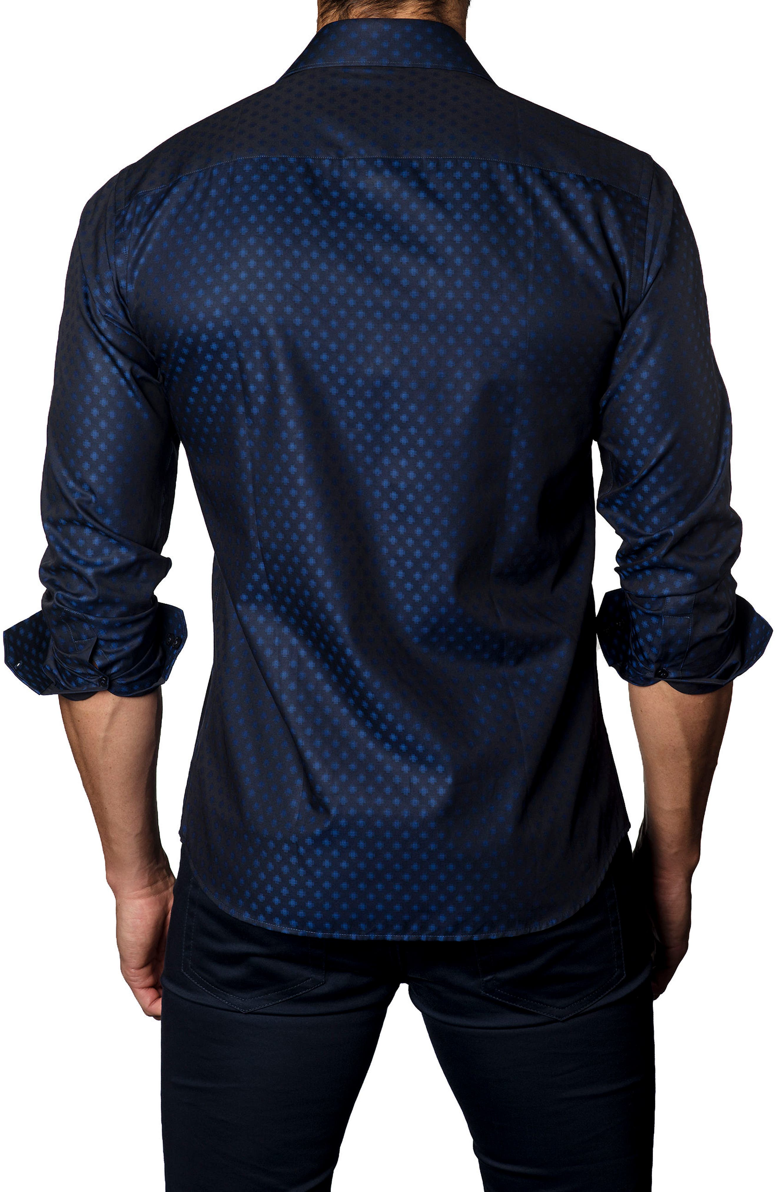 Alternate Image 2  - Jared Lang Trim Fit Dot Sport Shirt