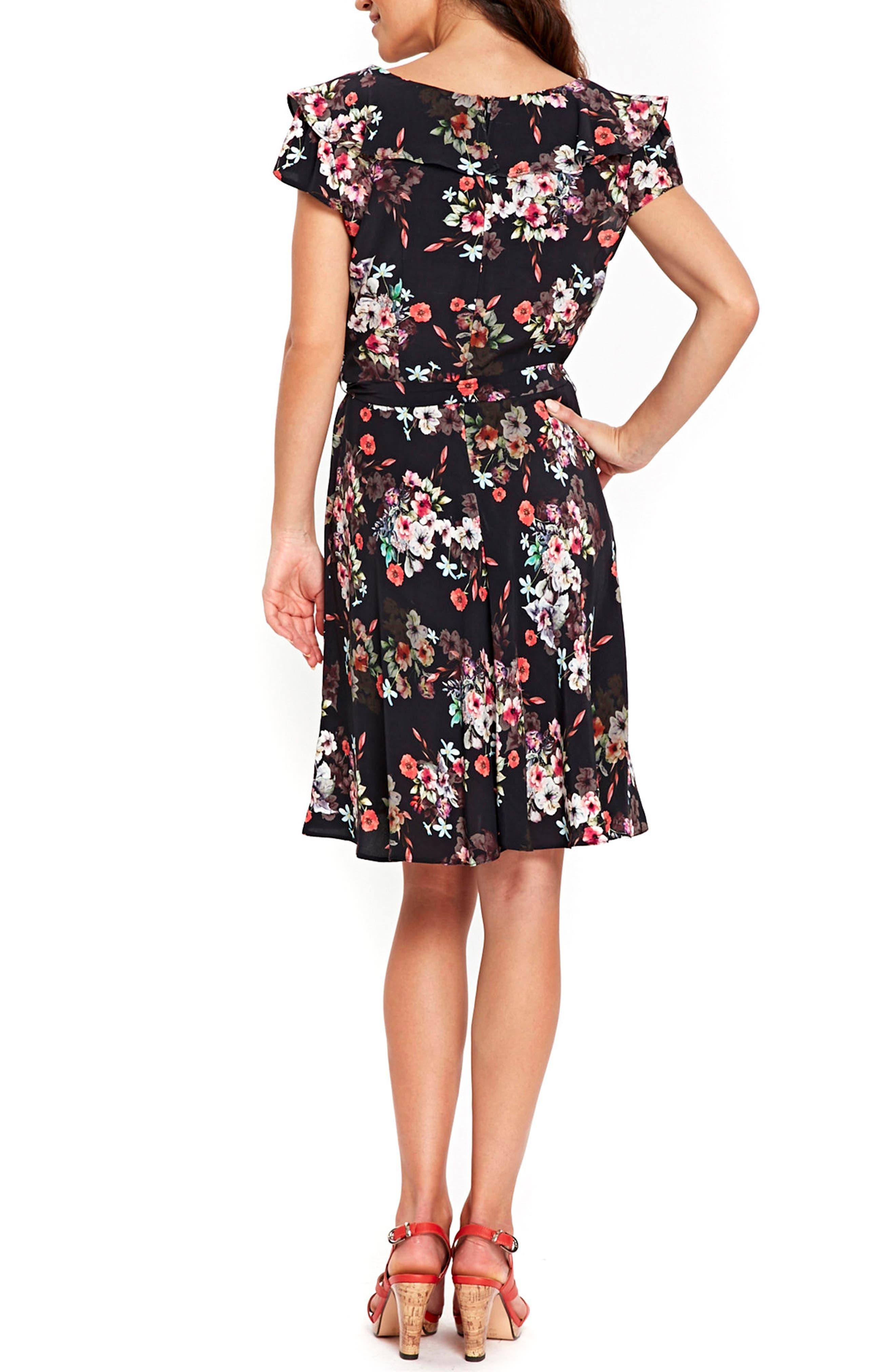 Alternate Image 3  - Wallis Orange Blossom A-Line Dress