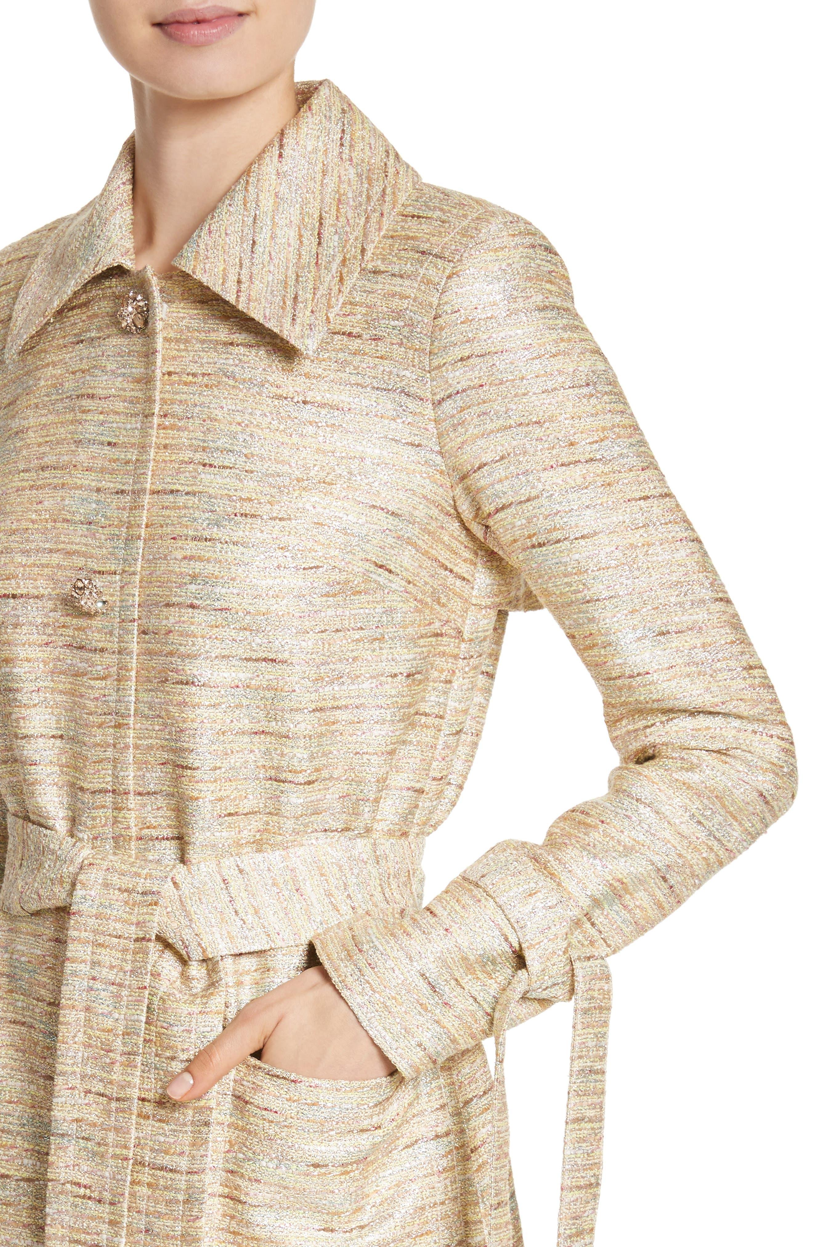 Alternate Image 4  - St. John Collection Metallic Tweed Coat