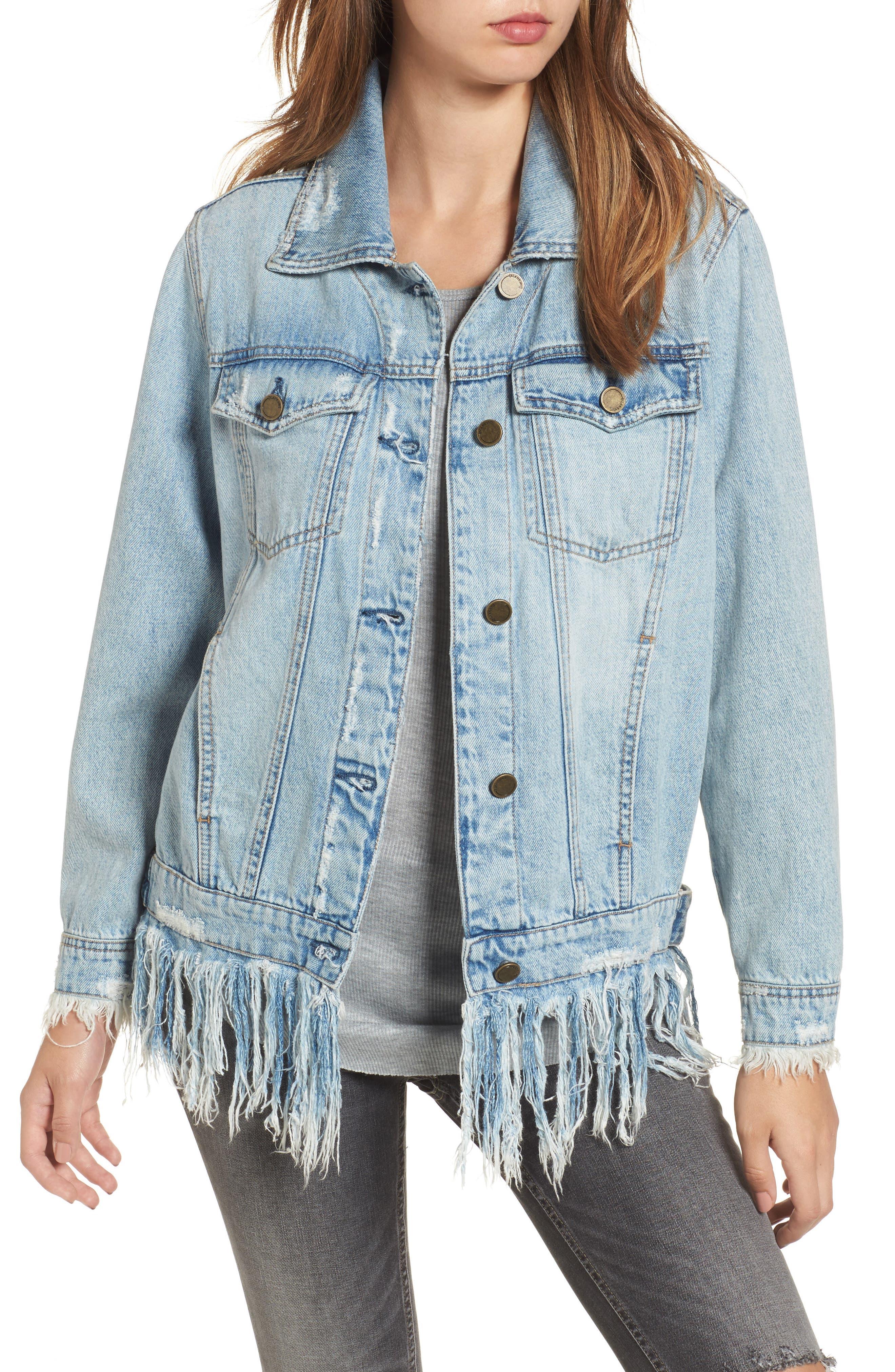 Alternate Image 1 Selected - BLANKNYC Whiplash Denim Jacket
