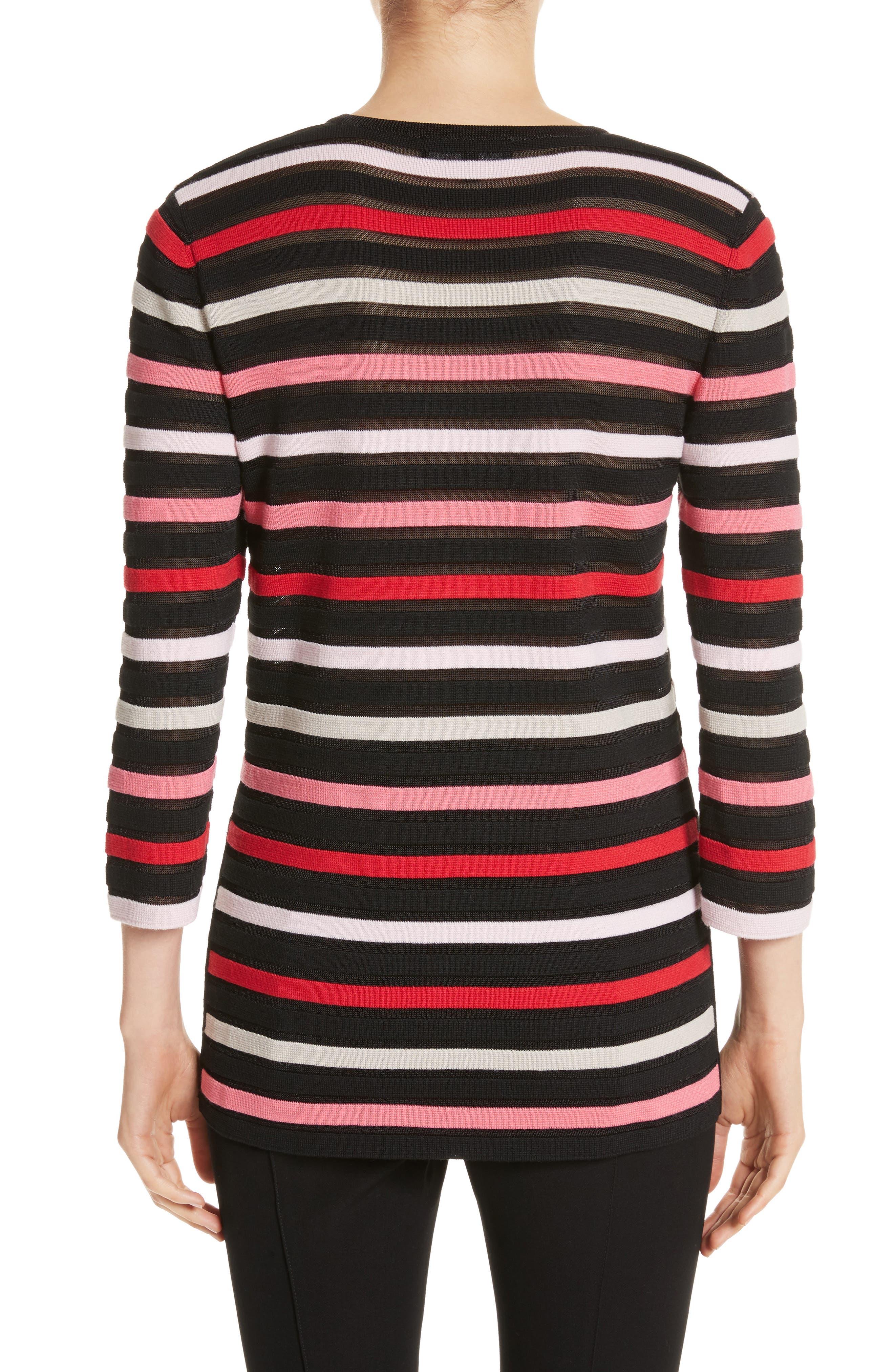 Alternate Image 2  - St. John Collection Ombré Stripe Sweater