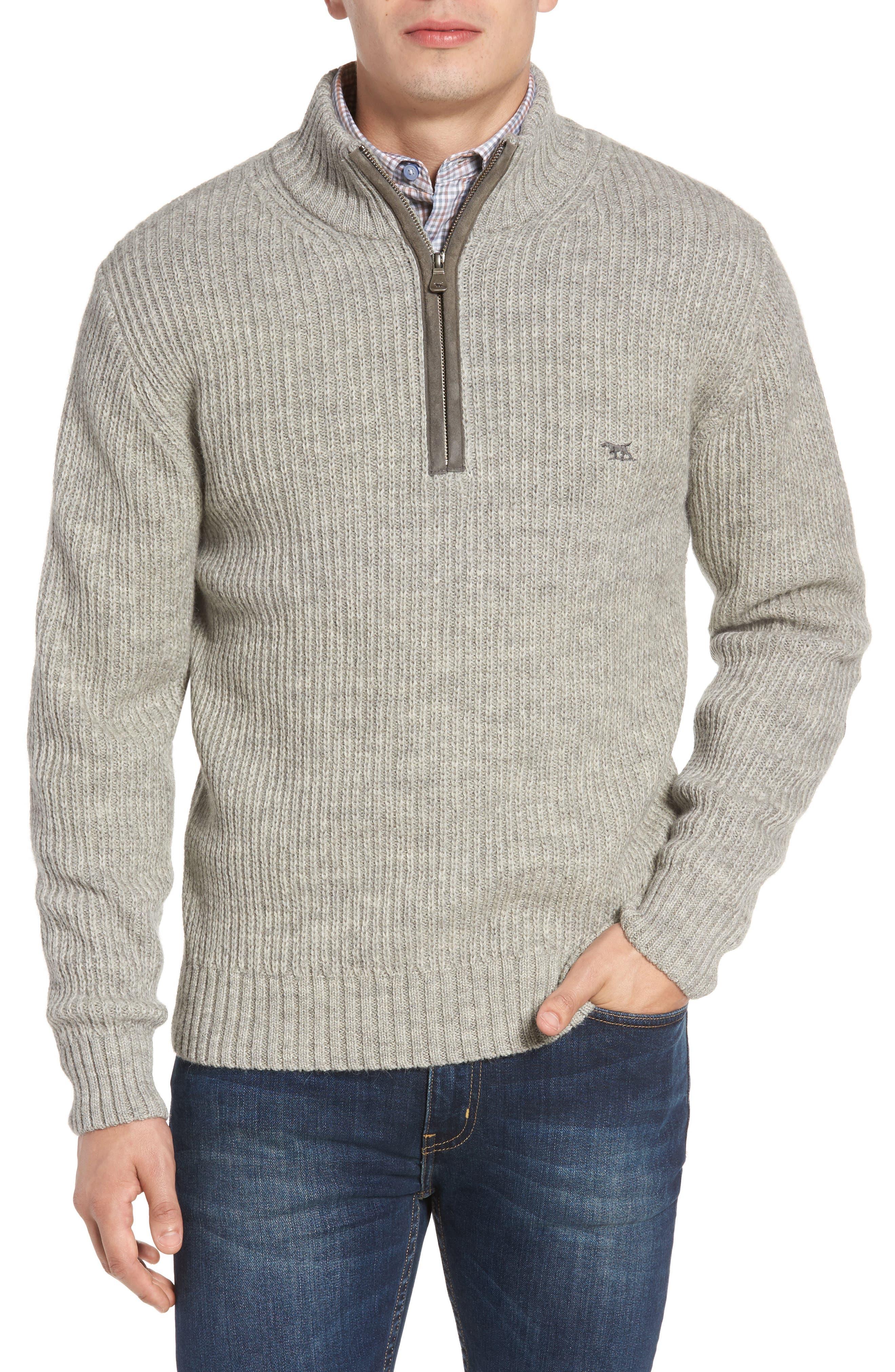Alternate Image 1 Selected - Rodd & Gunn 'Huka Lodge' Merino Wool Blend Quarter Zip Sweater