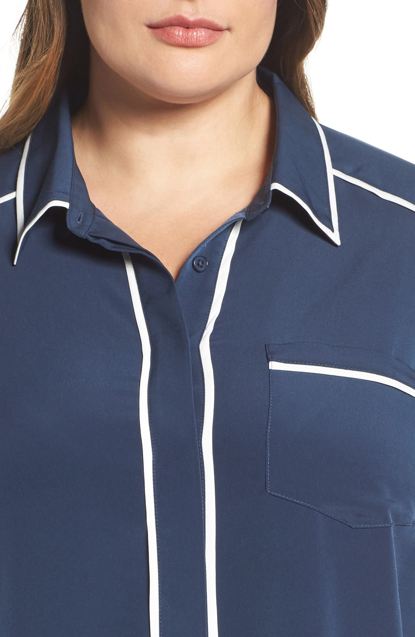 Alternate Image 4  - Melissa McCarthy Seven7 Pajama Blouse (Plus Size)