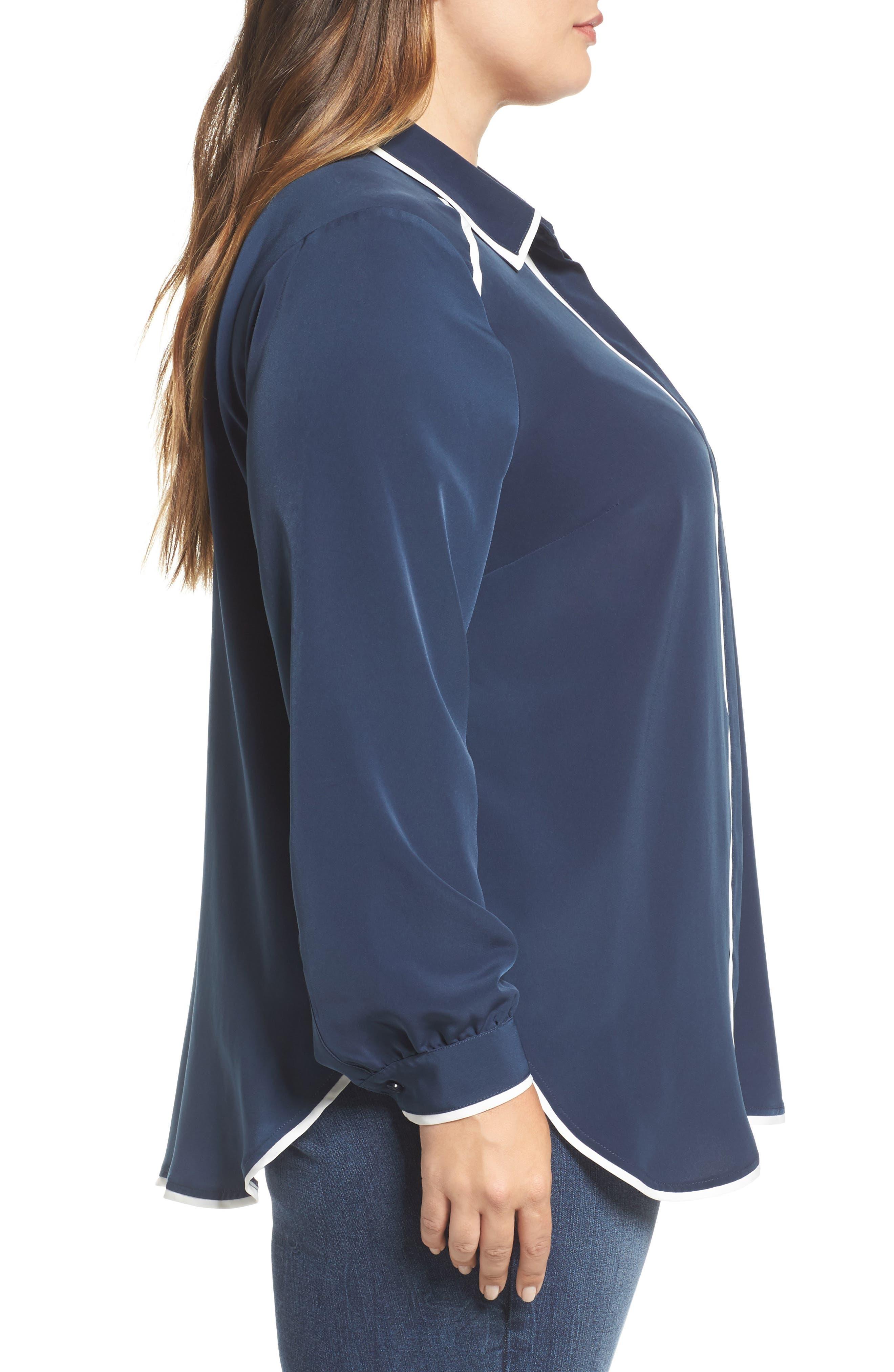 Alternate Image 3  - Melissa McCarthy Seven7 Pajama Blouse (Plus Size)
