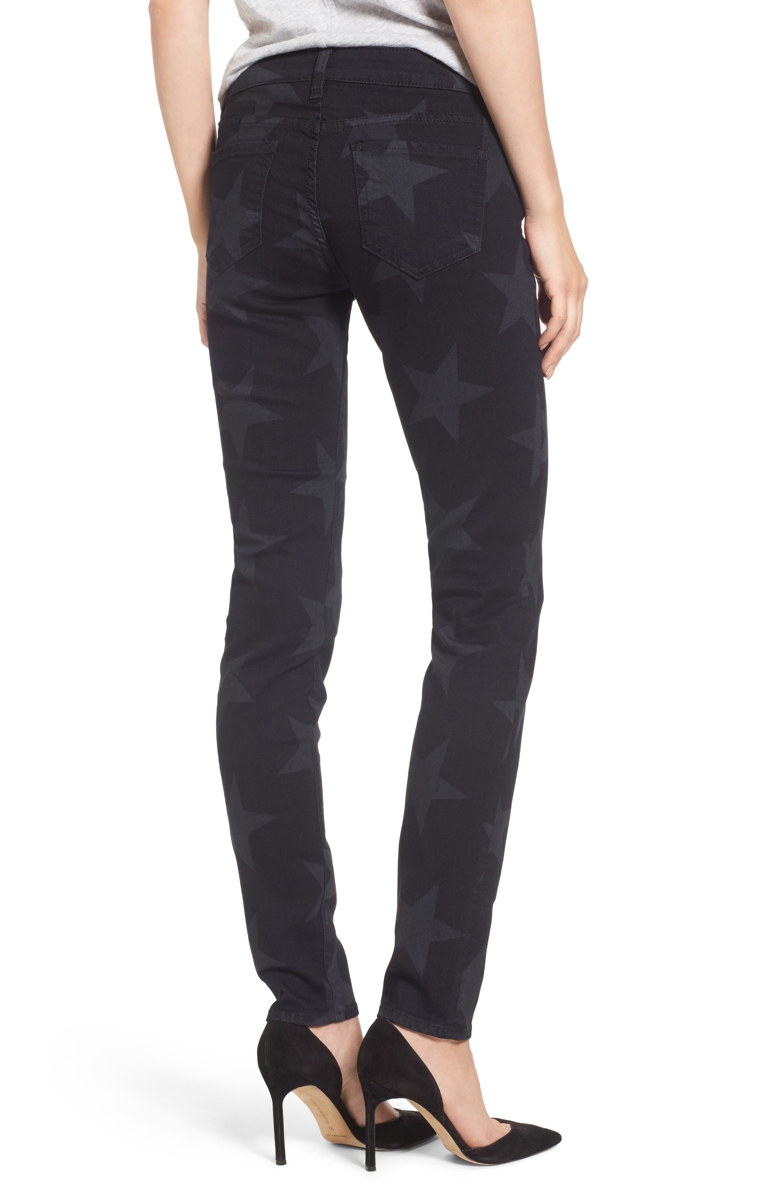 Mia Star Print Skinny Jeans,                             Alternate thumbnail 3, color,                             Trailblazing