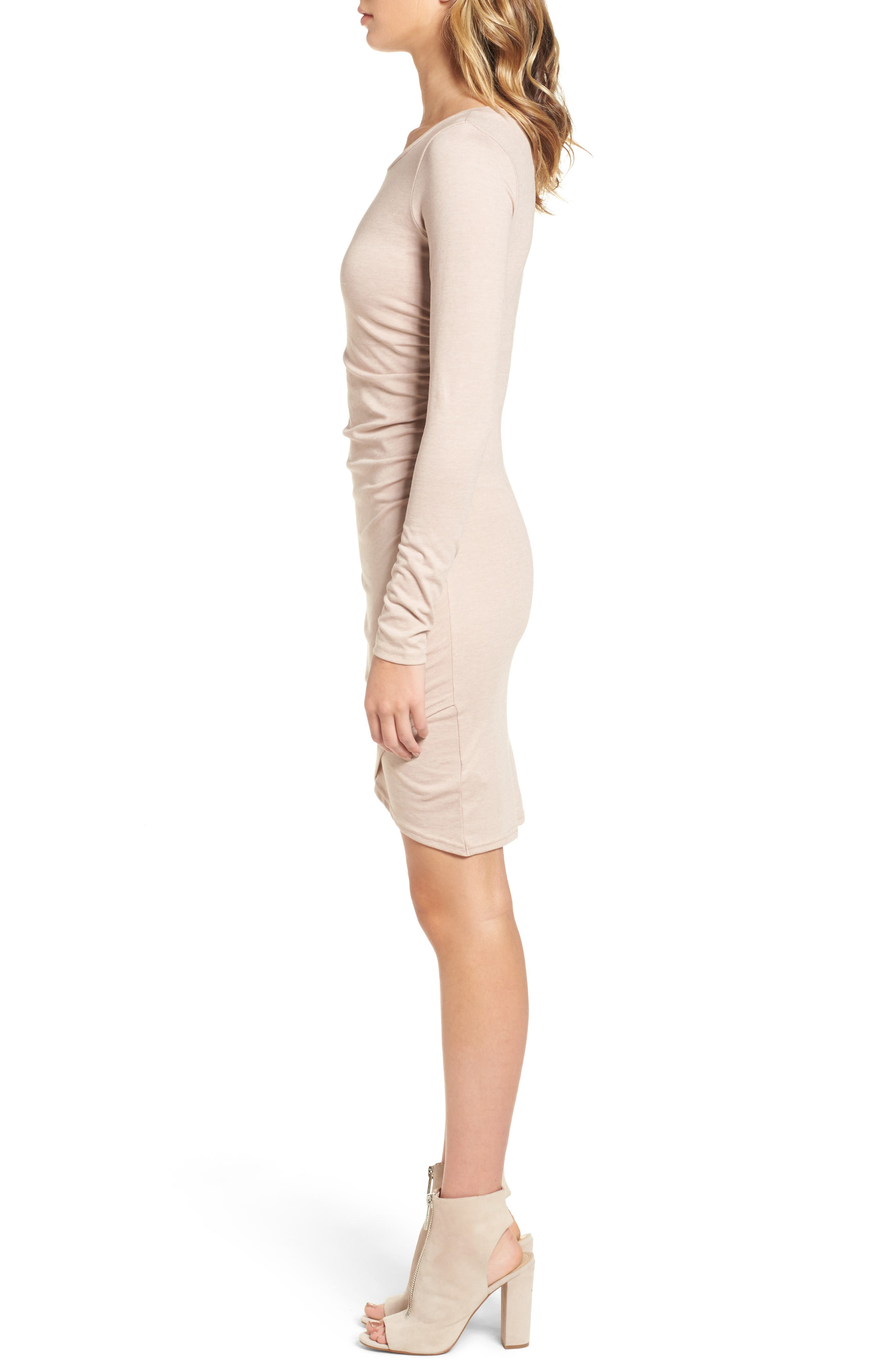 Alternate Image 3  - Leith Ruched Long Sleeve Dress (Nordstrom Online Exclusive)