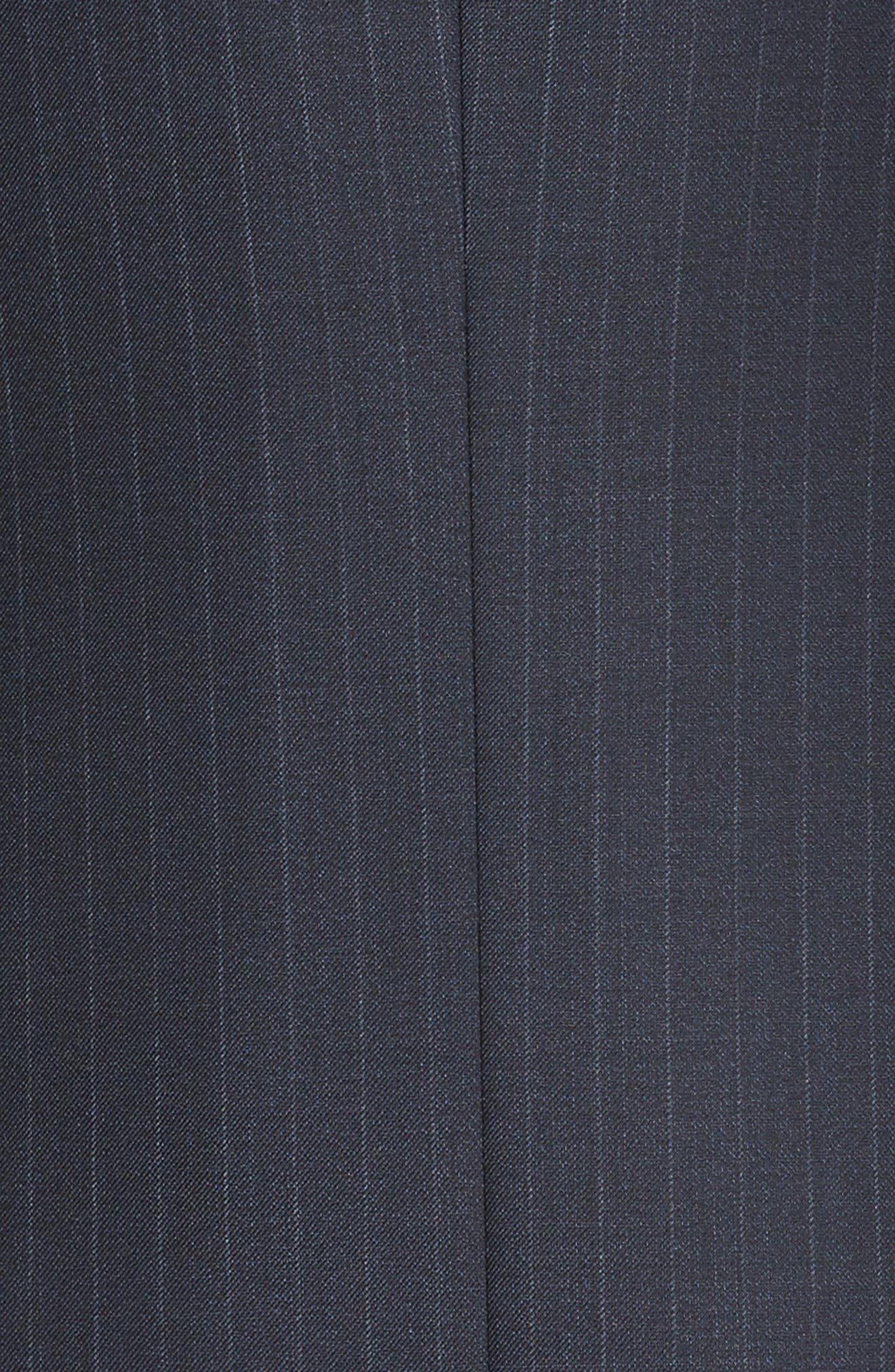 Classic Fit Banker Stripe Wool Suit,                             Alternate thumbnail 7, color,                             Blue/ Navy