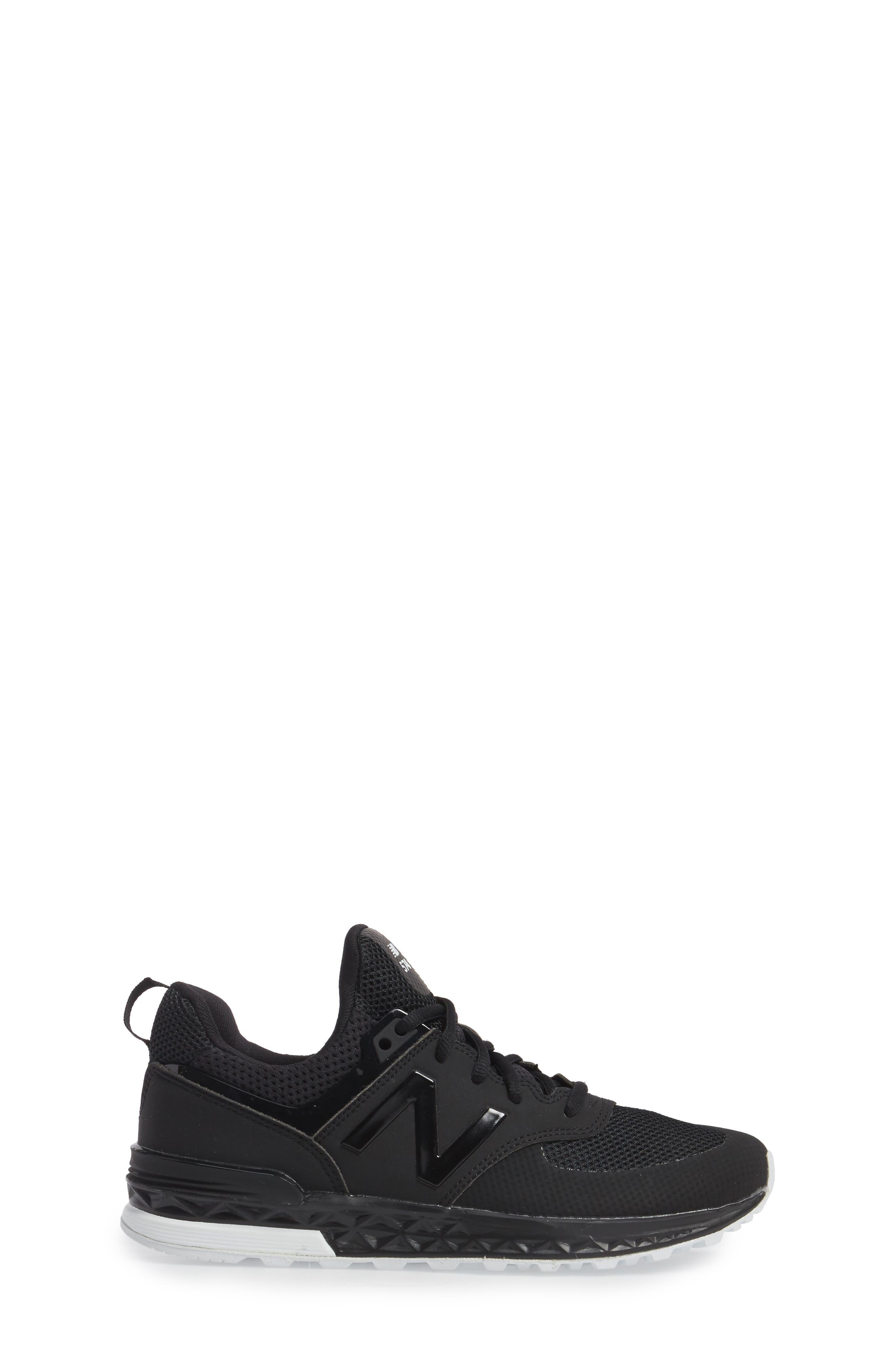 574 Sport Sneaker,                             Alternate thumbnail 3, color,                             Black