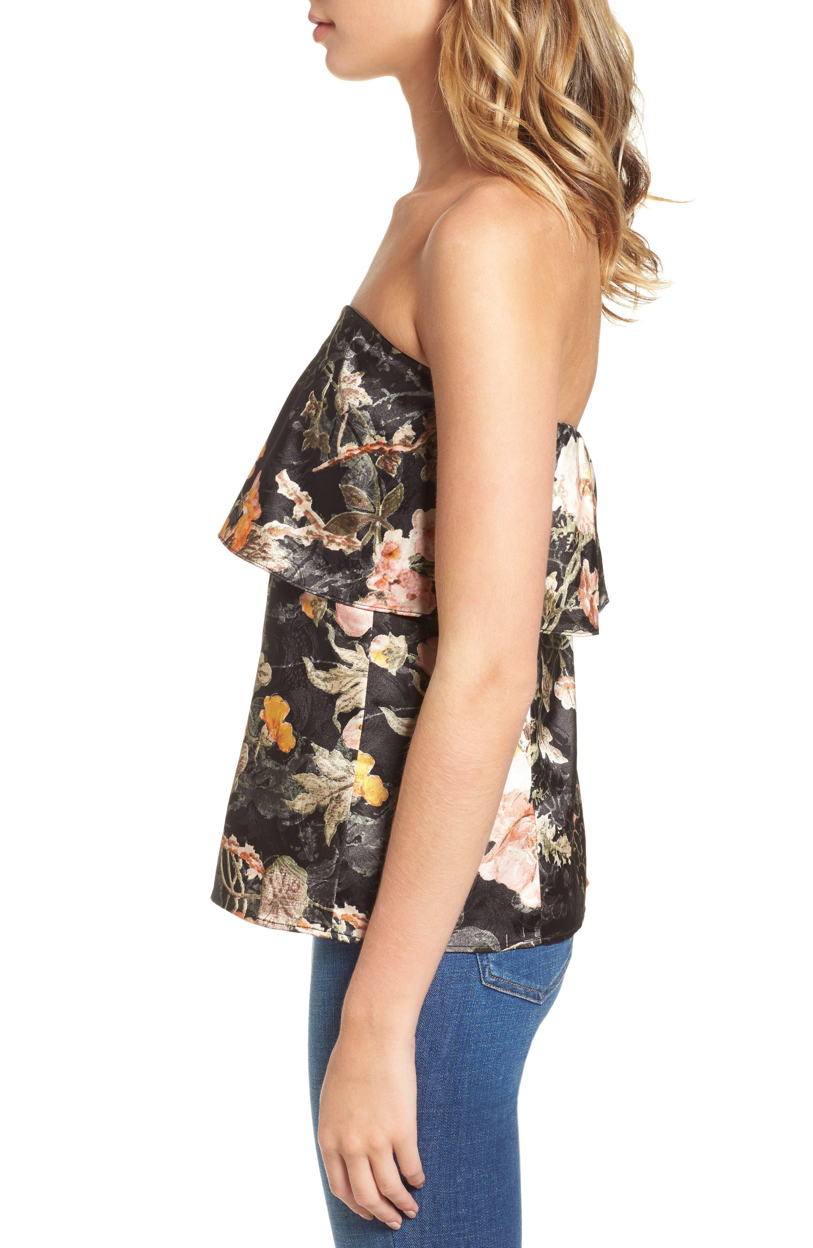 Alternate Image 3  - WAYF Floral Strapless Top