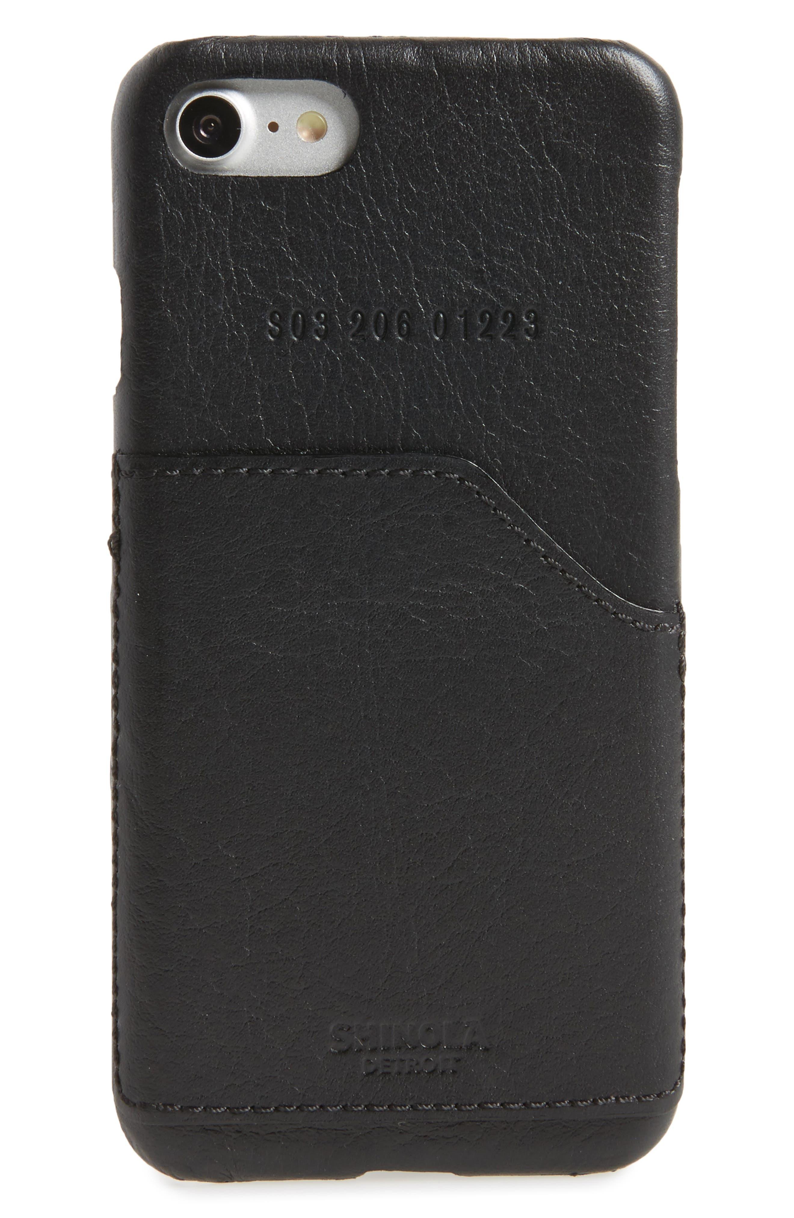 Shinola iPhone 7 Leather Case with Pocket