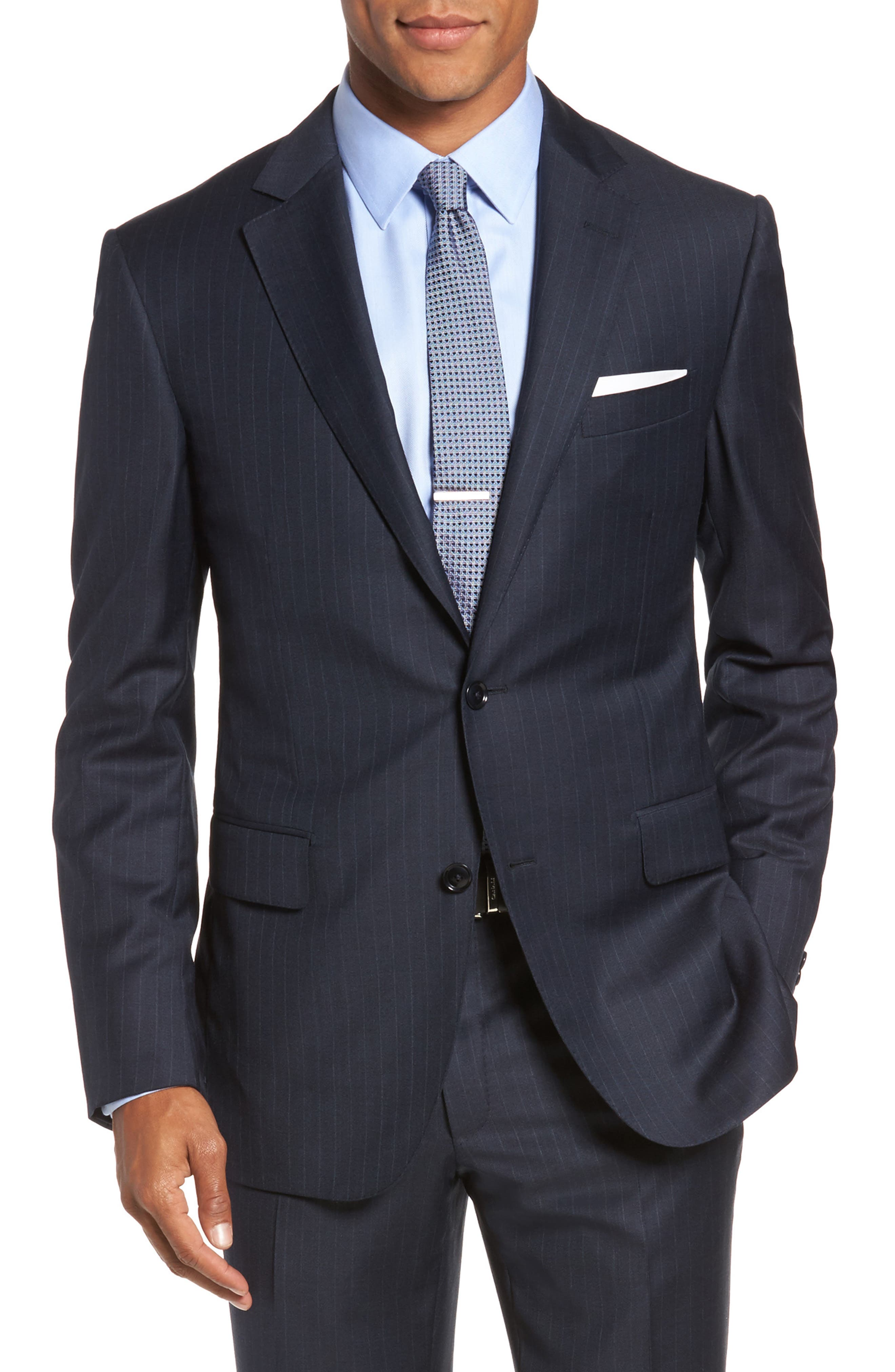 Alternate Image 5  - Pal Zileri Classic Fit Banker Stripe Wool Suit
