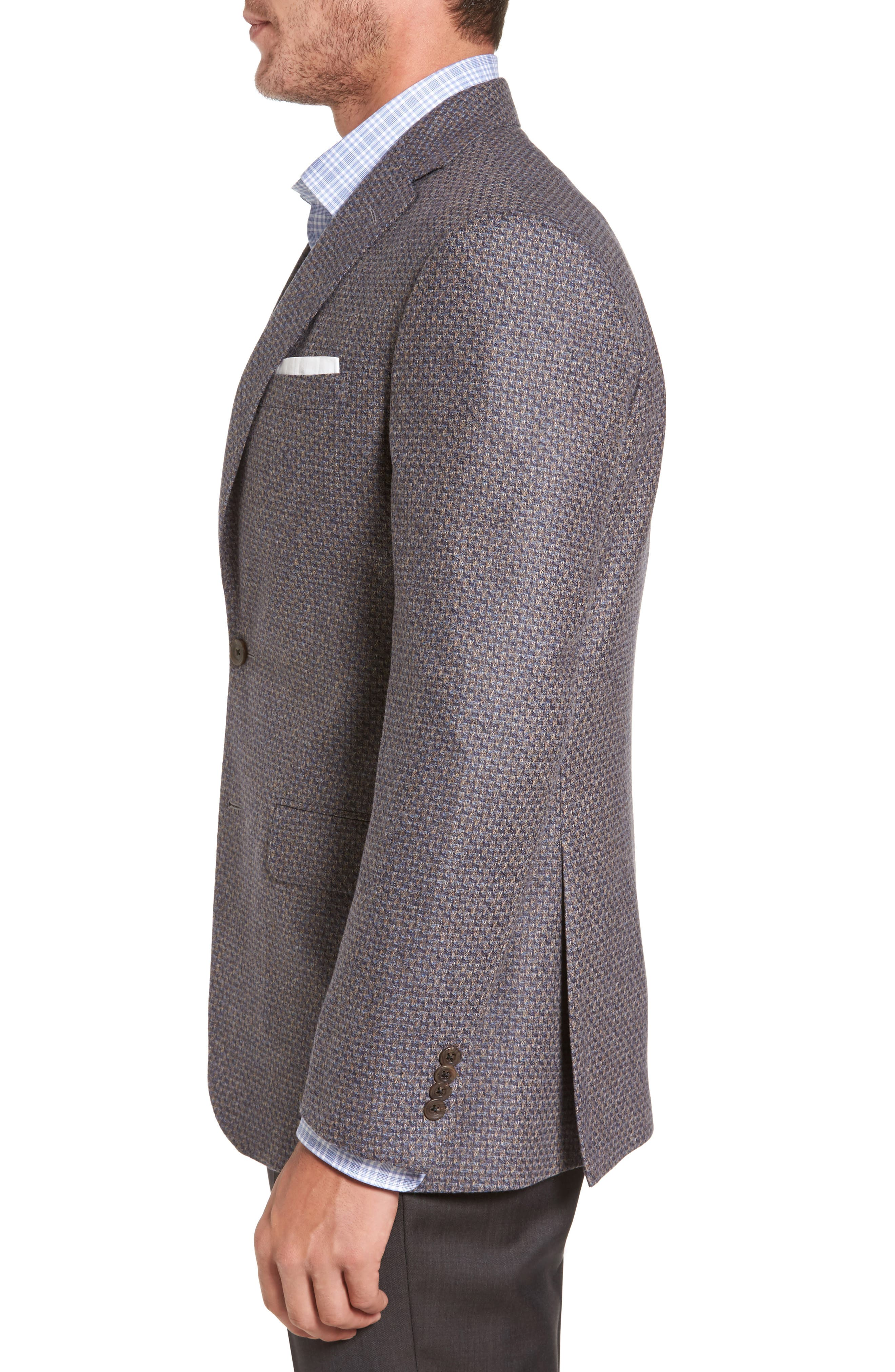Alternate Image 3  - David Donahue Connor Classic Fit Wool Sport Coat