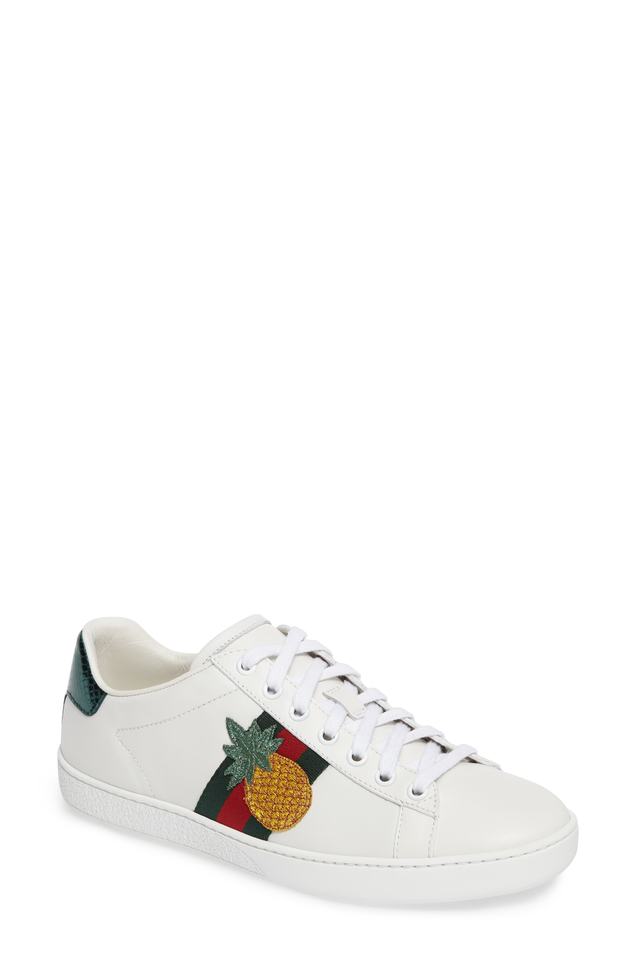 Alternate Image 1 Selected - Gucci New Ace Pineapple Sneaker (Women)