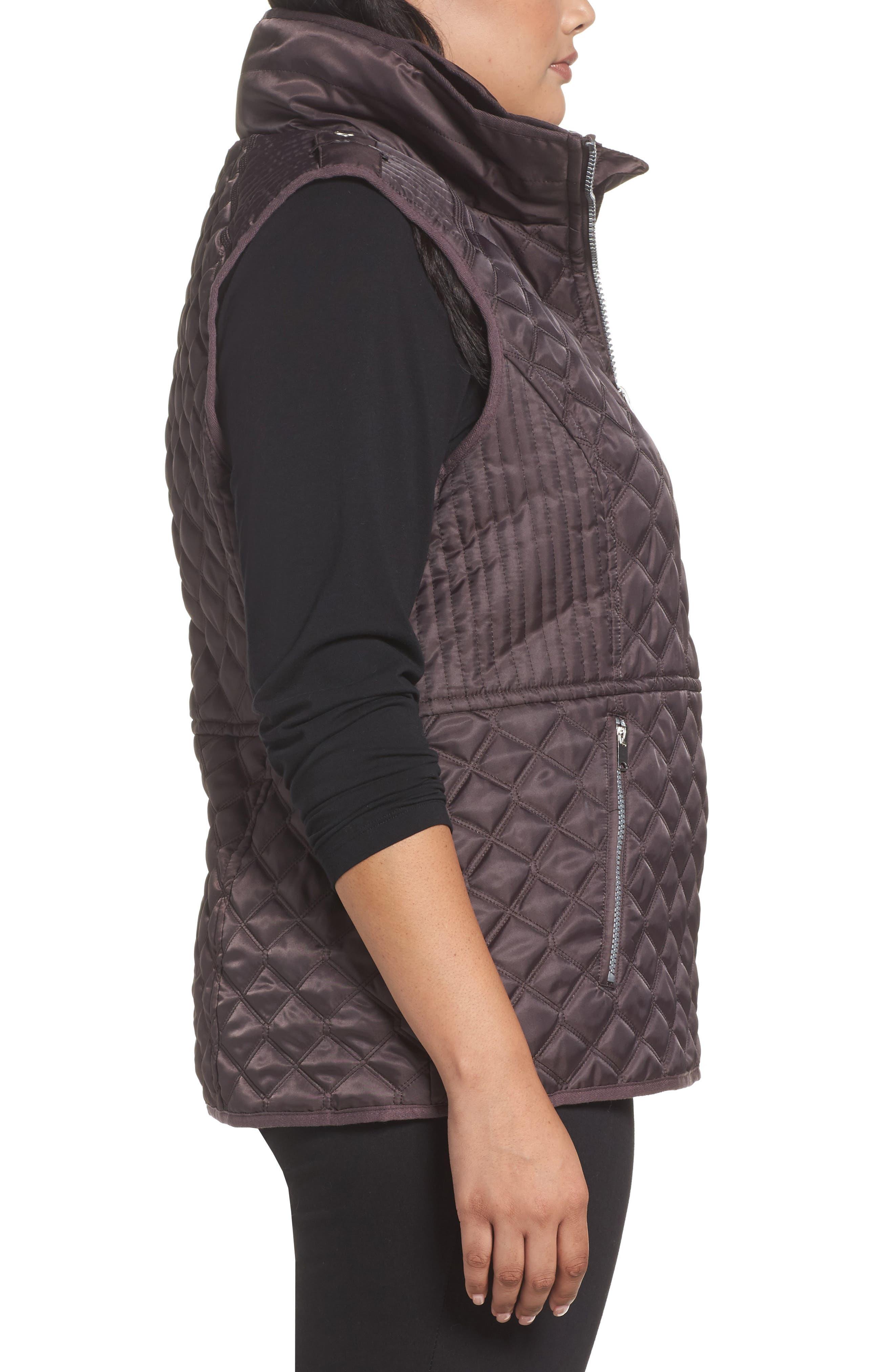 Caitlin Quilted Vest,                             Alternate thumbnail 3, color,                             Gunmetal