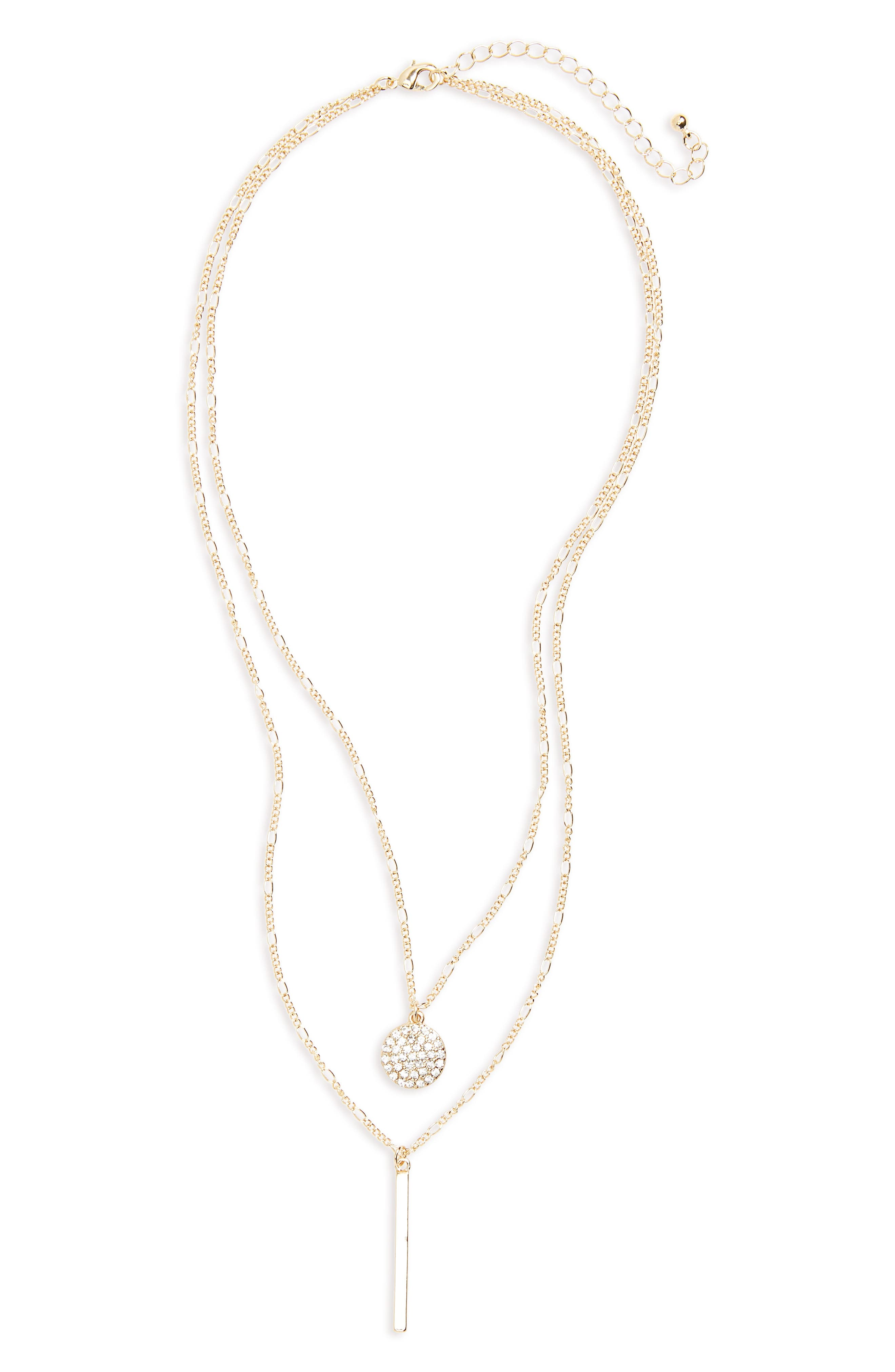 BP. Circle & Bar Layered Necklace