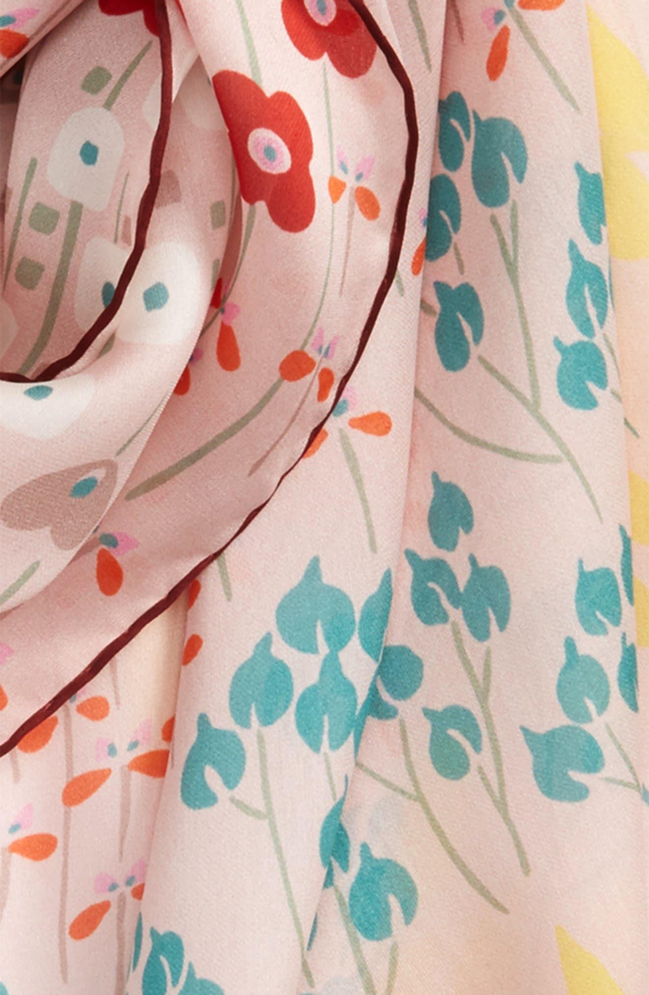 Alternate Image 3  - Valentino Flower Rows Silk Scarf