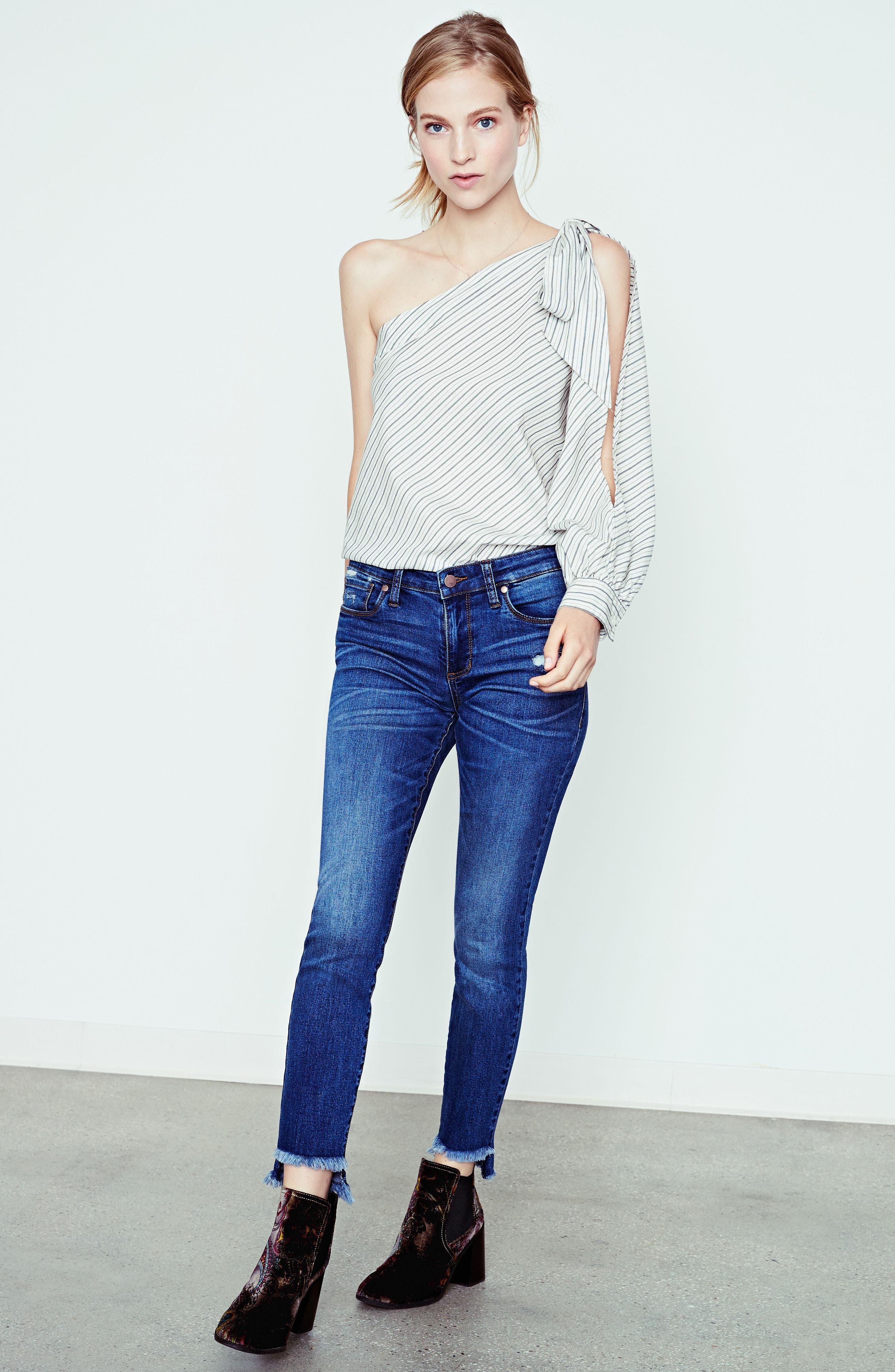 Alternate Image 7  - BP. Patch Detail Step Hem Skinny Jeans