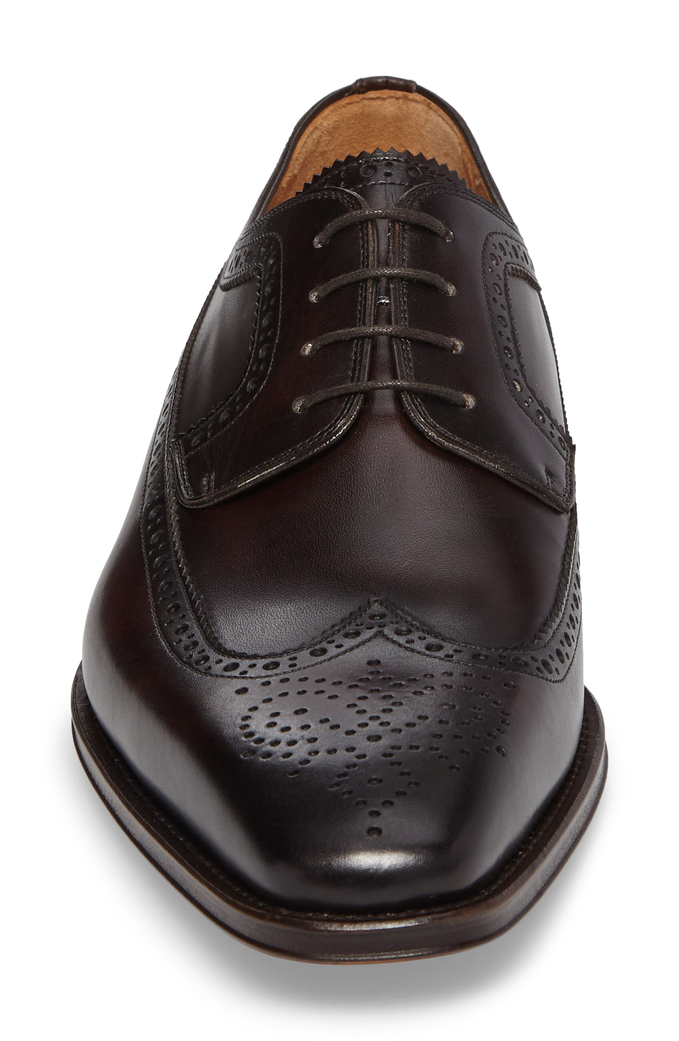 Marbelo Longwing Derby,                             Alternate thumbnail 4, color,                             Brown Leather