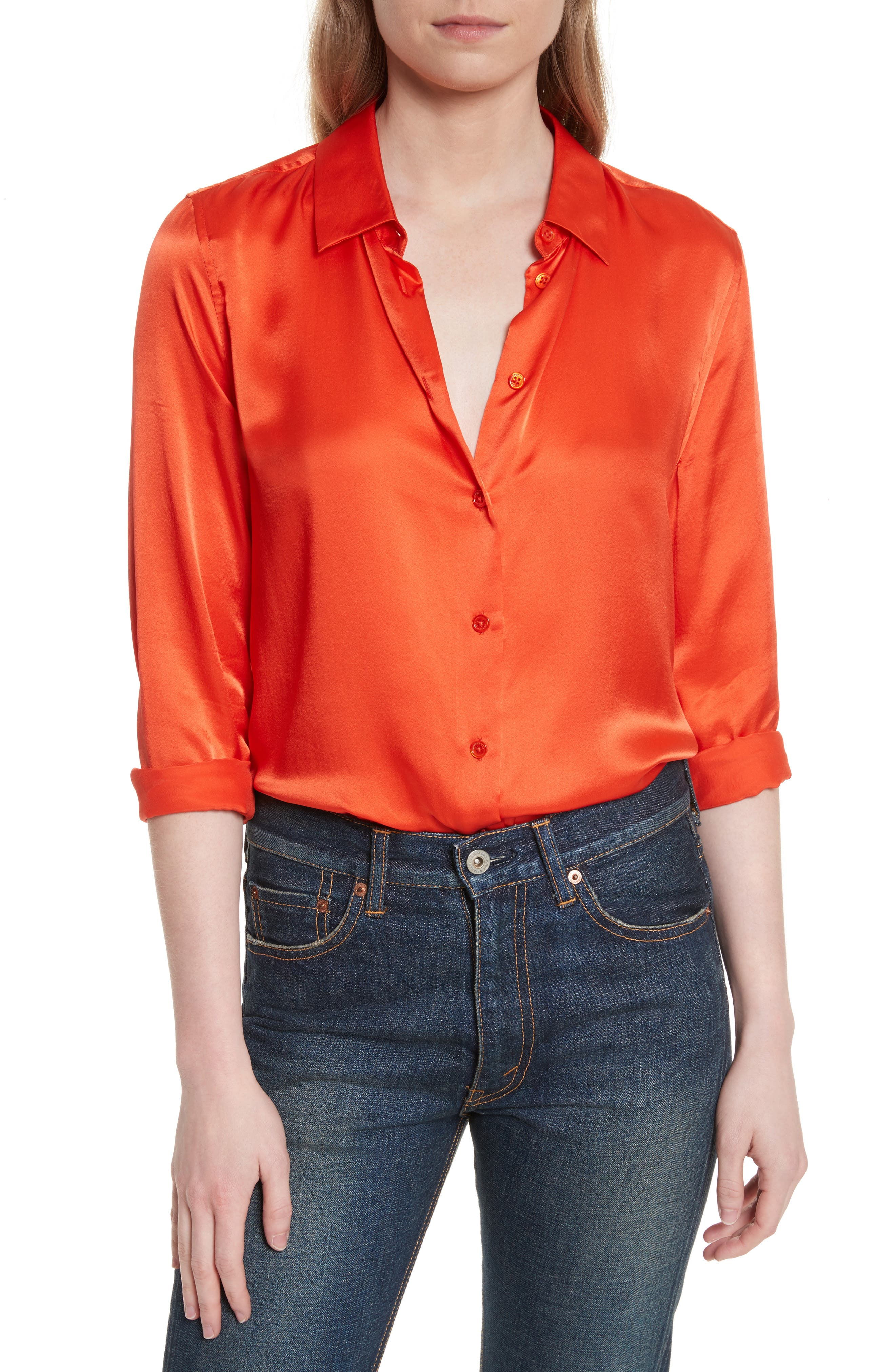 Essential Silk Top,                         Main,                         color, Bloodshot