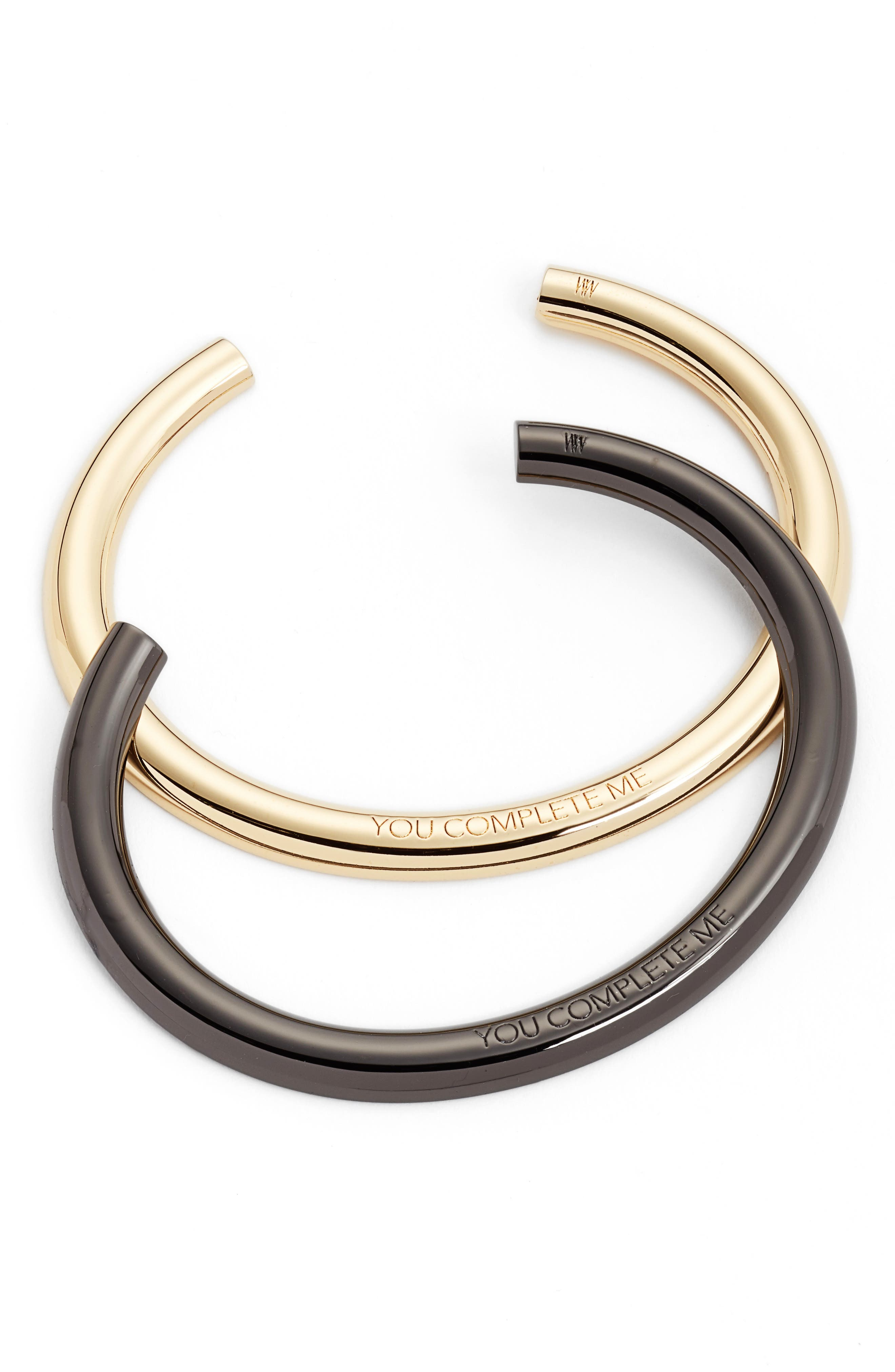 Alternate Image 1 Selected - Stella Valle You Complete Me Set of 2 Cuffs