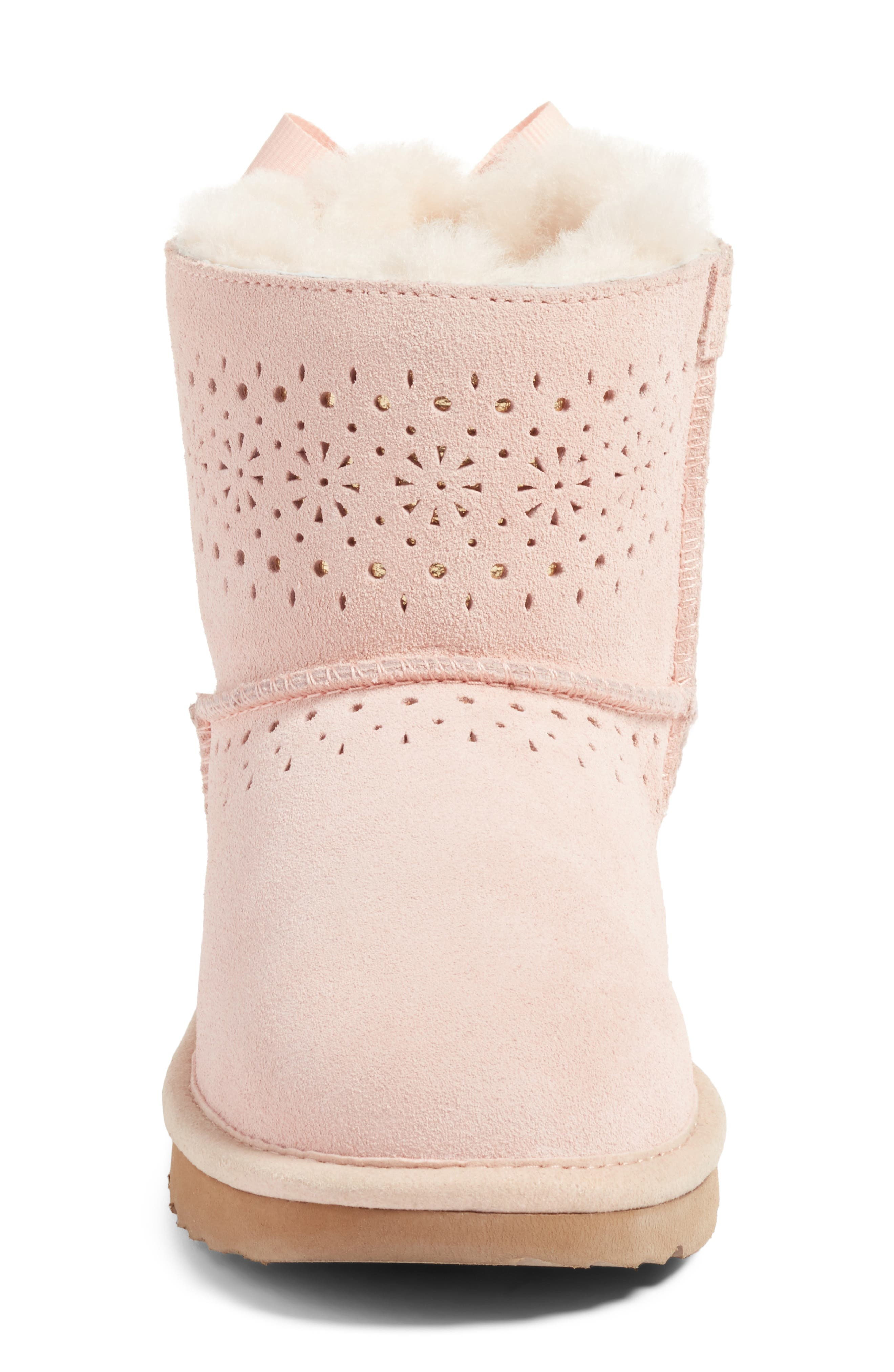 Dae Perforated Tie Back Boot,                             Alternate thumbnail 5, color,                             Baby Pink