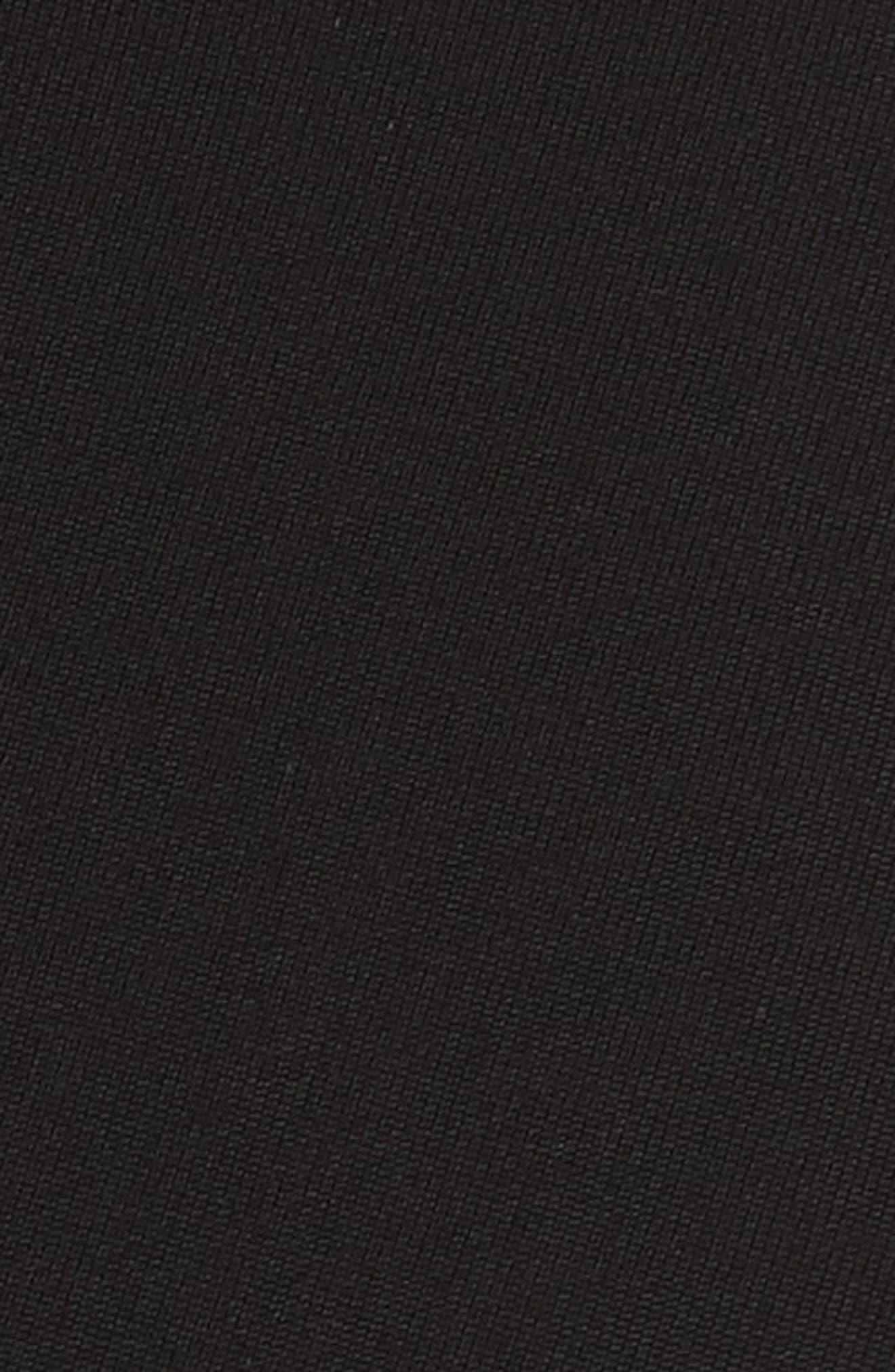 Bending Skirt Wool Dress,                             Alternate thumbnail 6, color,                             Black