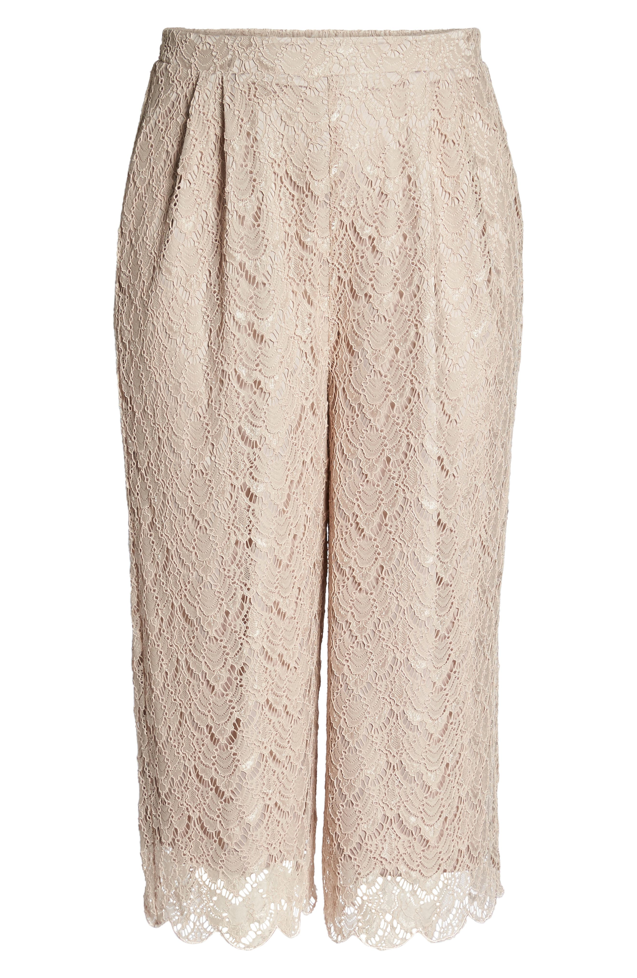 Lace Culottes,                             Alternate thumbnail 6, color,                             Nude