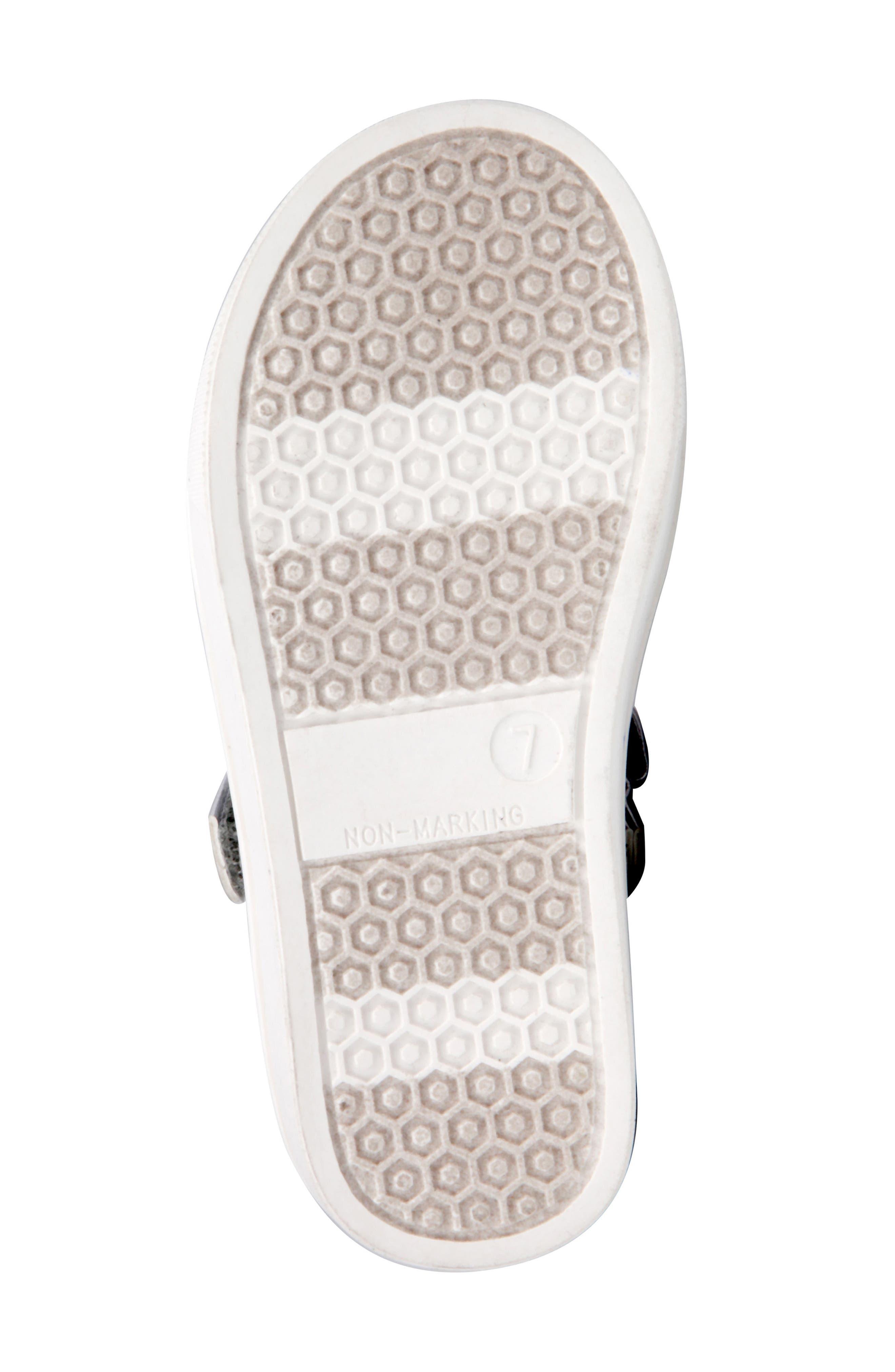 Ragina Faux Fur Glitter Mary Jane Sneaker,                             Alternate thumbnail 6, color,                             Silver Chunky Glitter