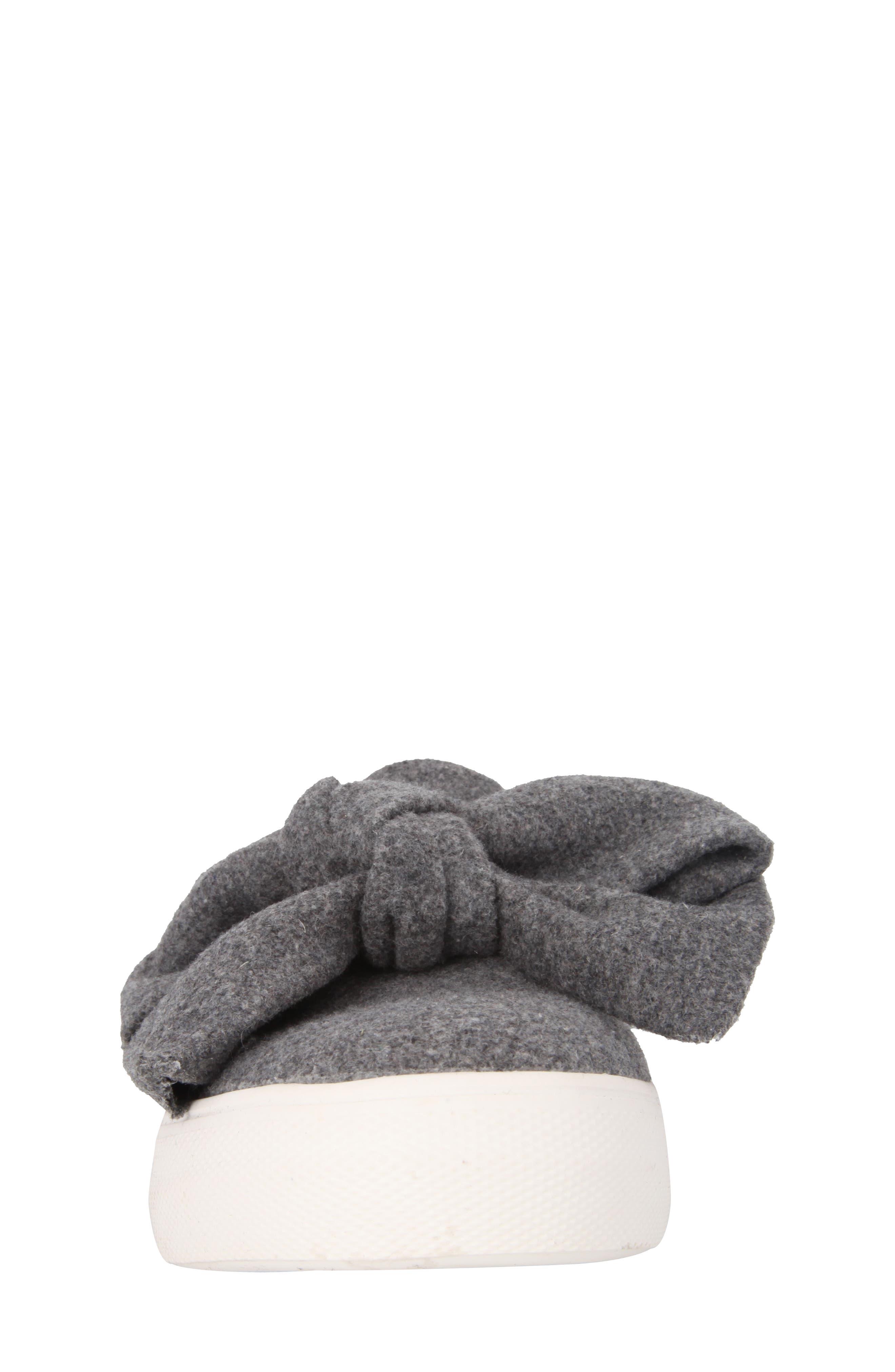 Vaneza Slip-On Bow Sneaker,                             Alternate thumbnail 4, color,                             Grey Flannel