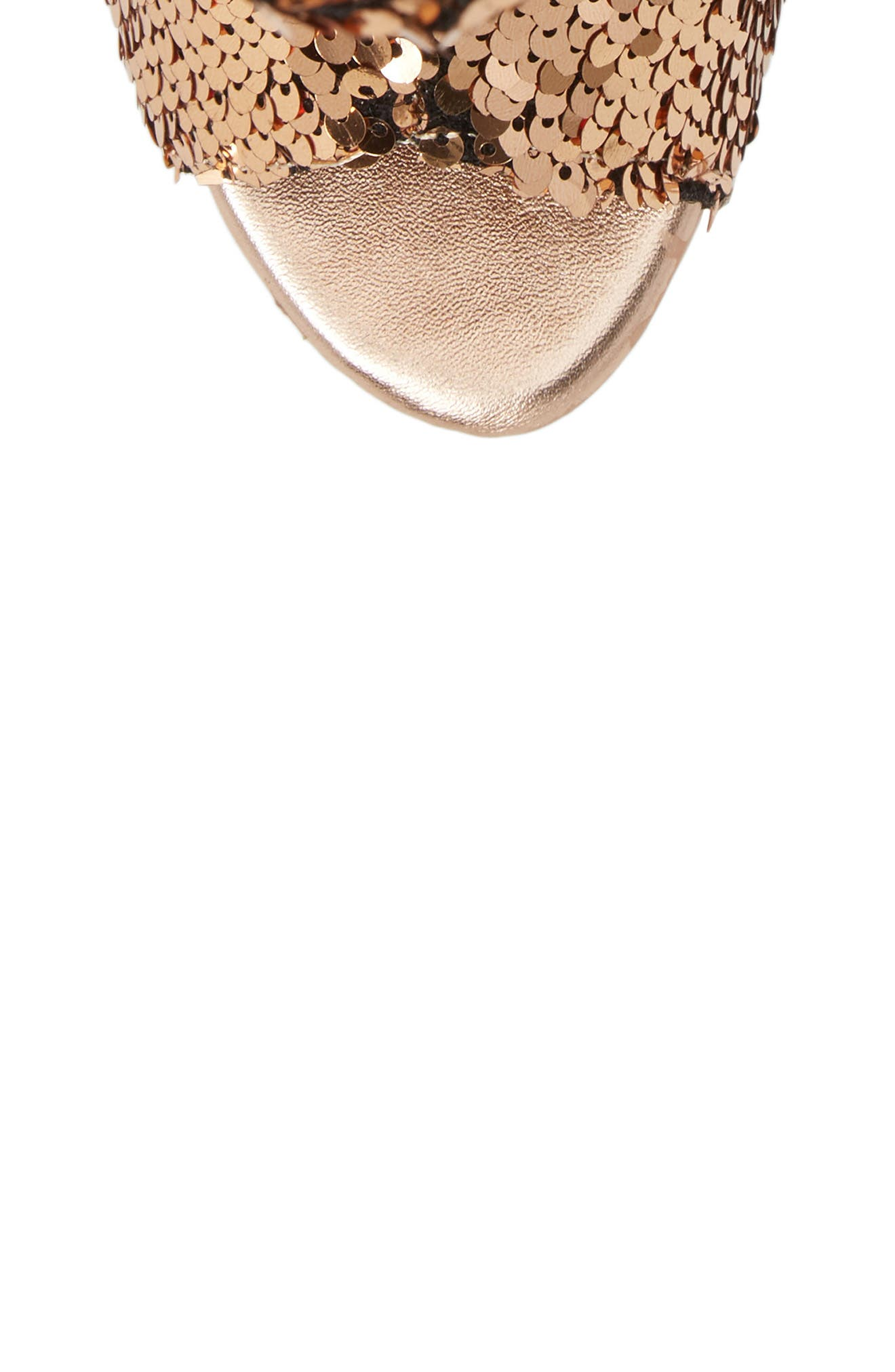 Marlow Sequin Slouch Bootie,                             Alternate thumbnail 5, color,                             Rose Gold