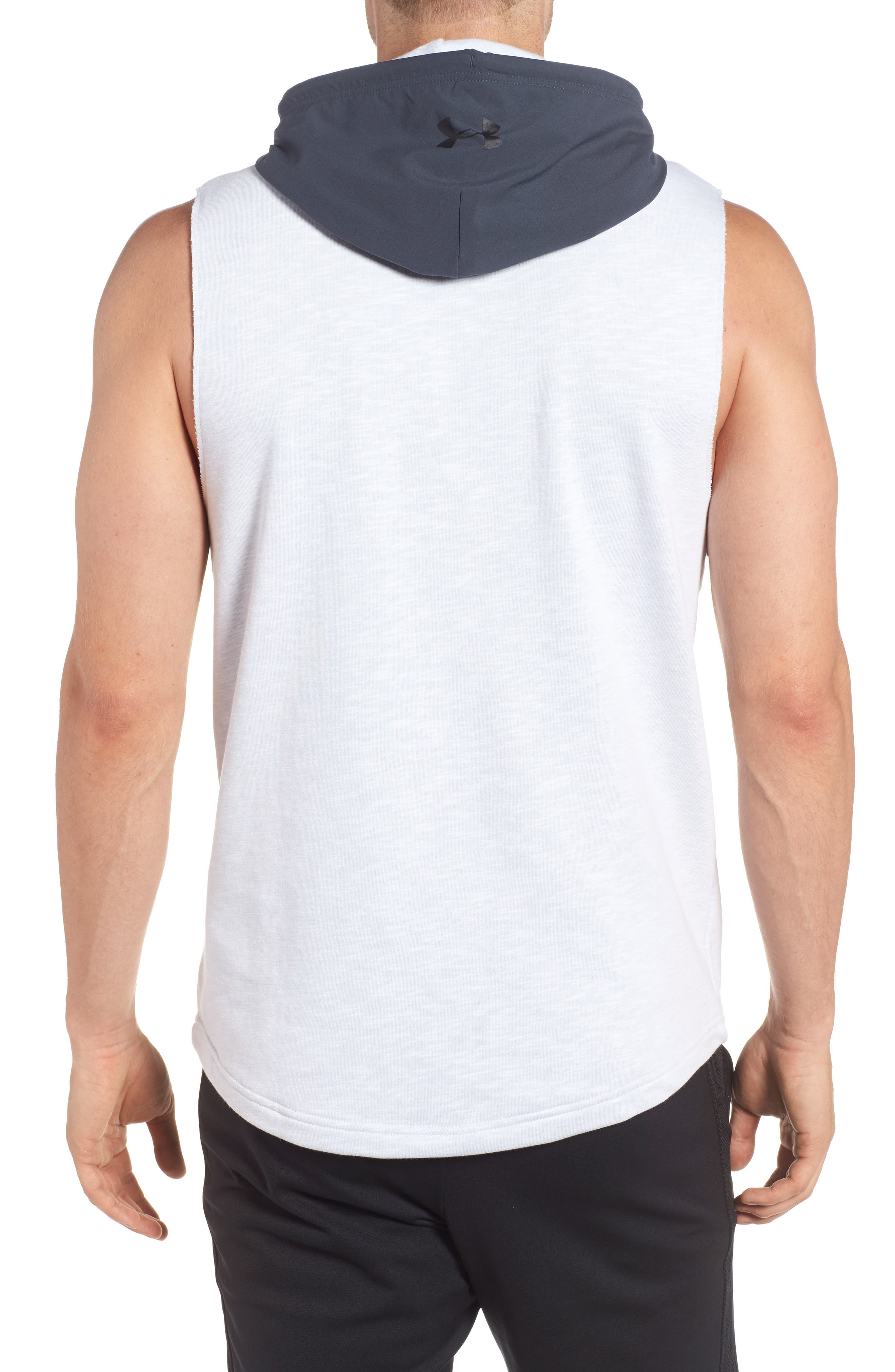 Sportstyle Sleeveless Hoodie,                             Alternate thumbnail 2, color,                             White / Stealth Gray