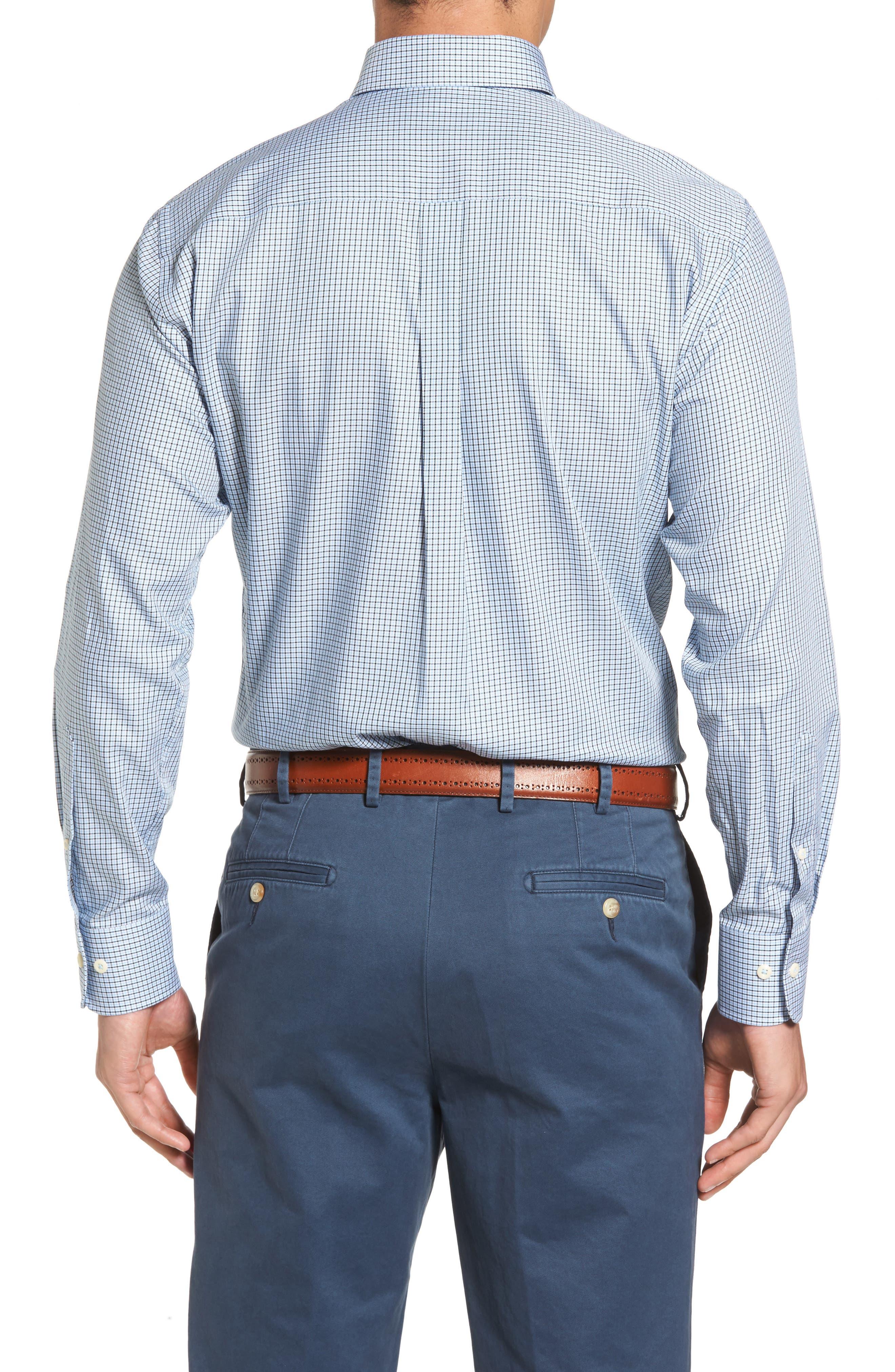 Elevation Regular Fit Check Sport Shirt,                             Alternate thumbnail 2, color,                             Tahoe Blue