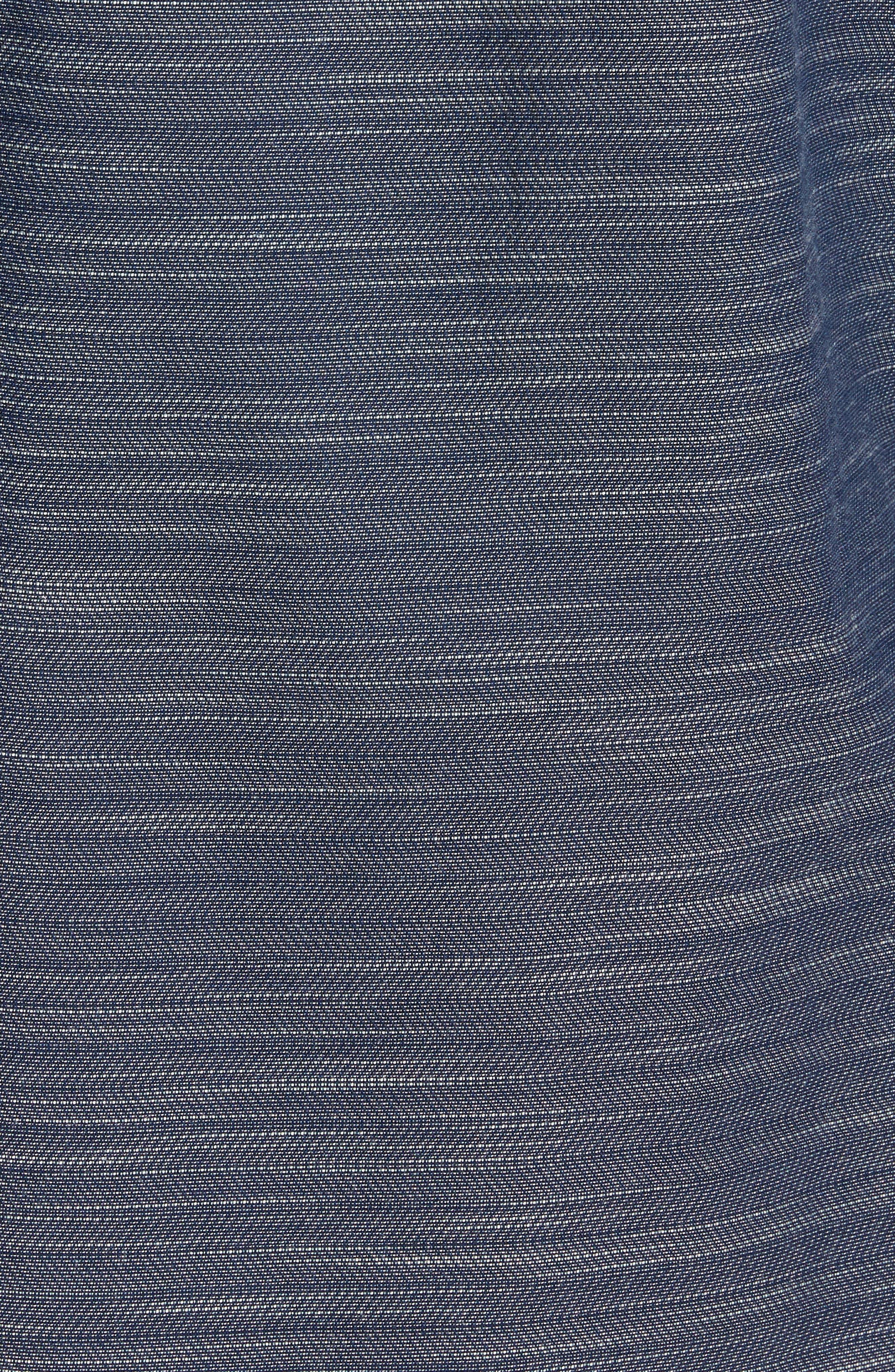 Herringbone Chambray Shirt,                             Alternate thumbnail 5, color,                             Navy Charcoal Herringbone
