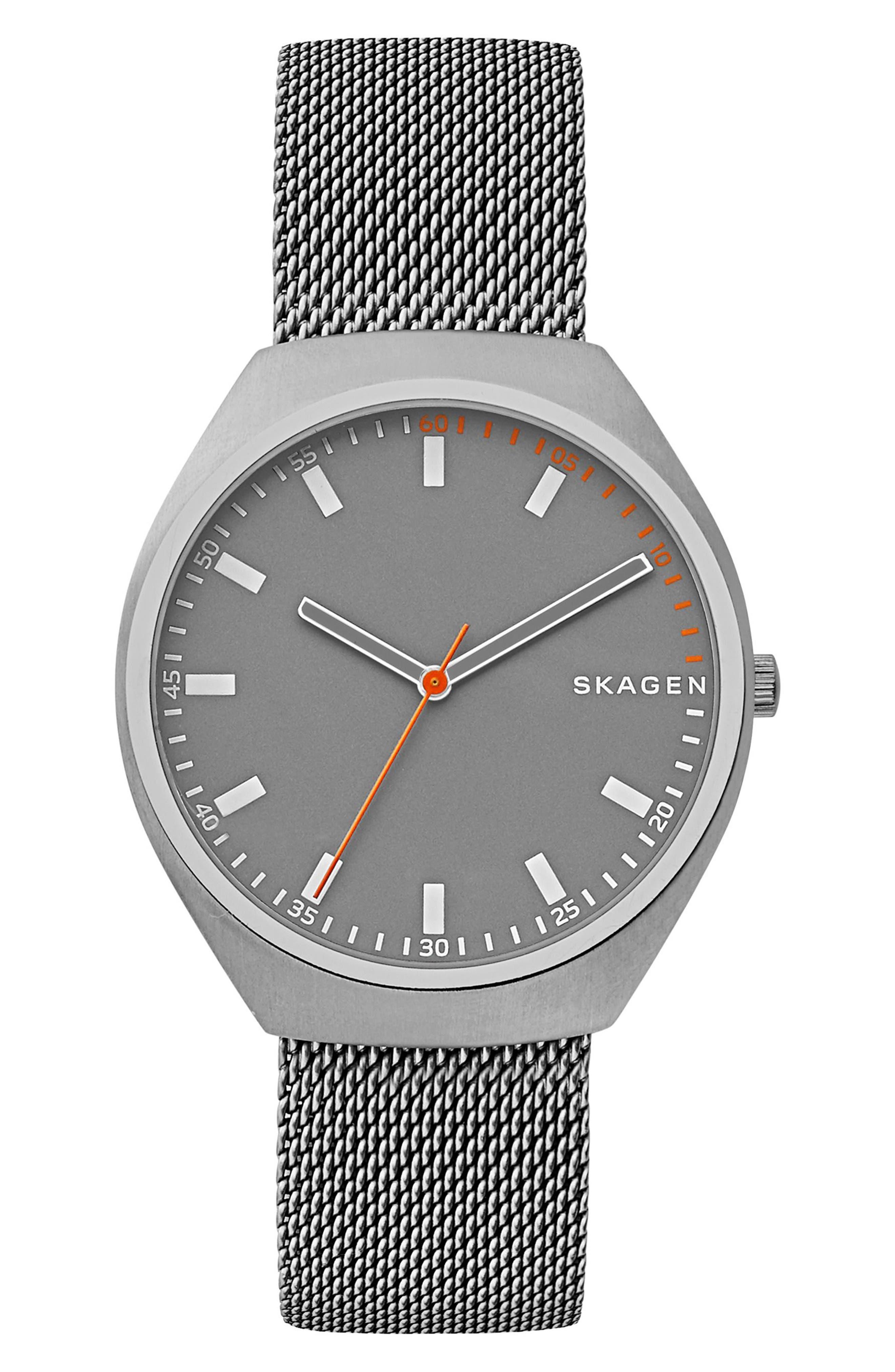 Skagen Grenen Mesh Strap Watch, 40mm