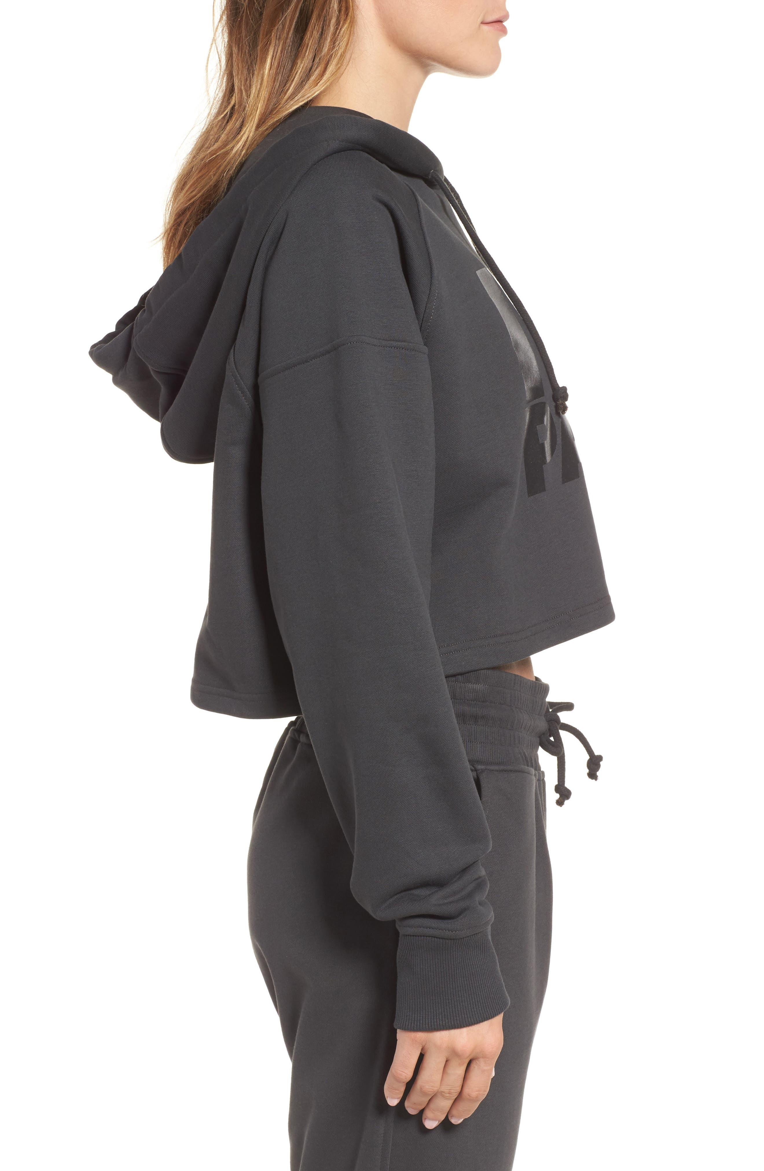 Alternate Image 3  - IVY PARK® Washed Jersey Logo Crop Hoodie