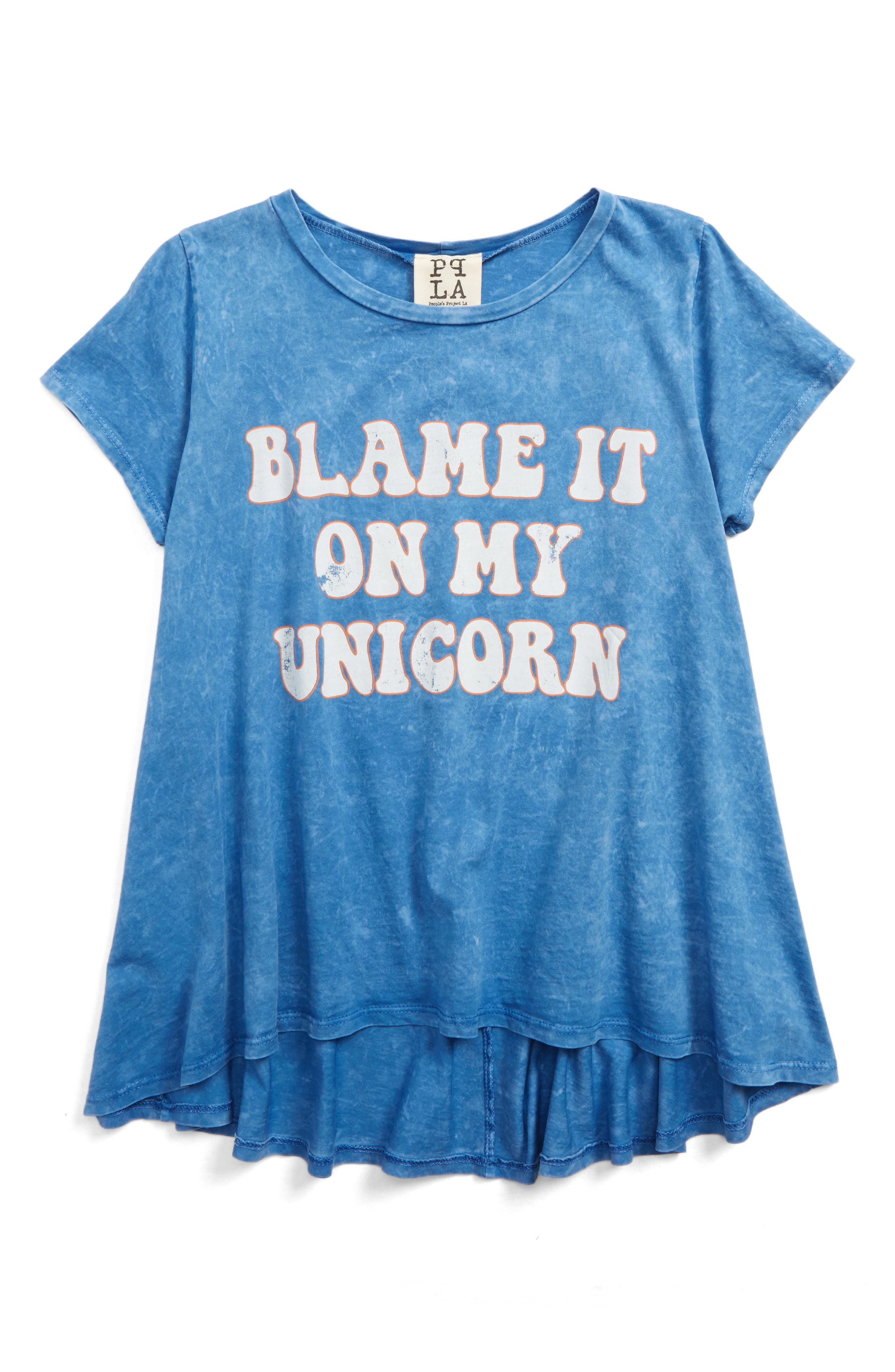 PPLA Blame It On My Unicorn Graphic Tee (Big Girls)
